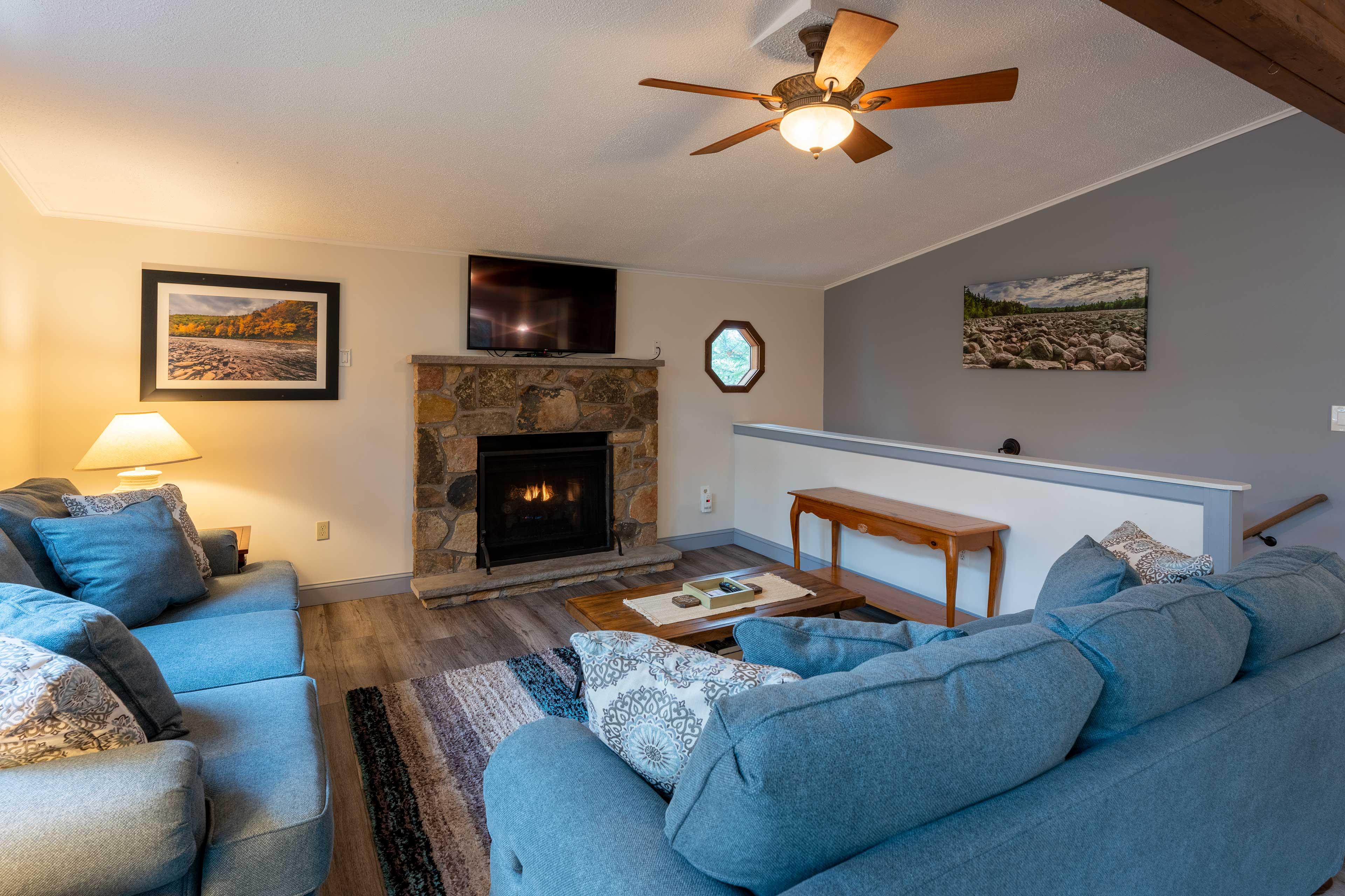 Living Room   Wood-Burning Fireplace