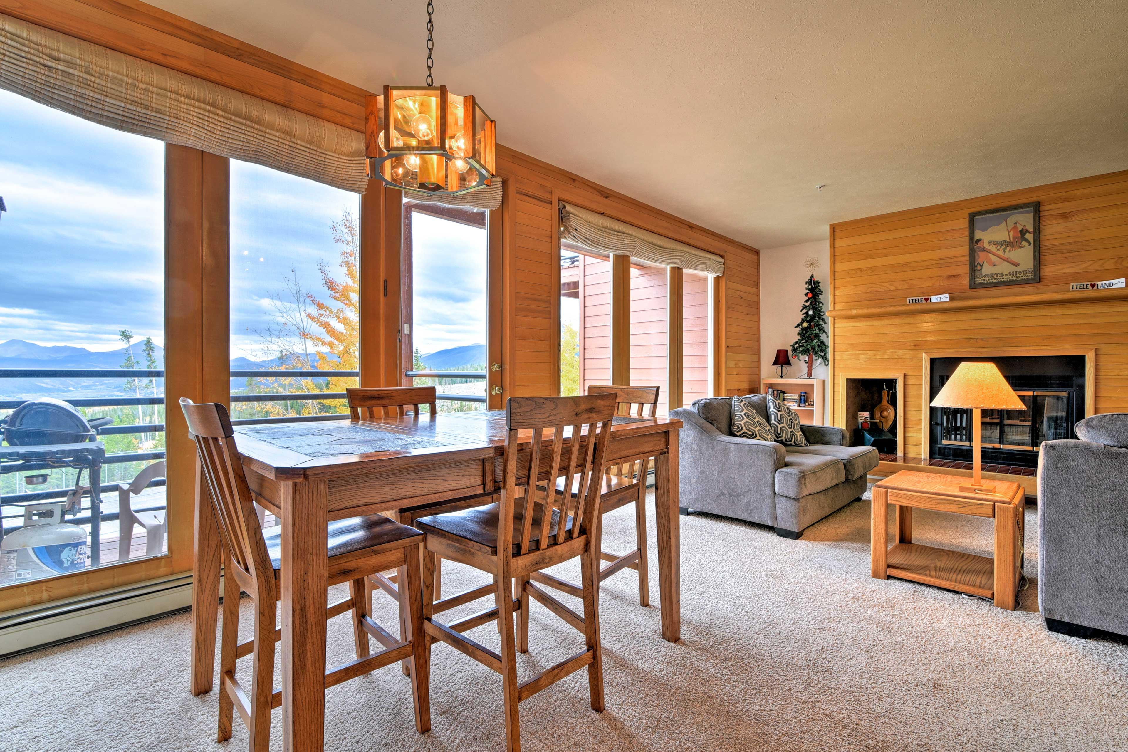 Unwind in this 2-bedroom, 2-bathroom vacation rental condo in Silverthorne.