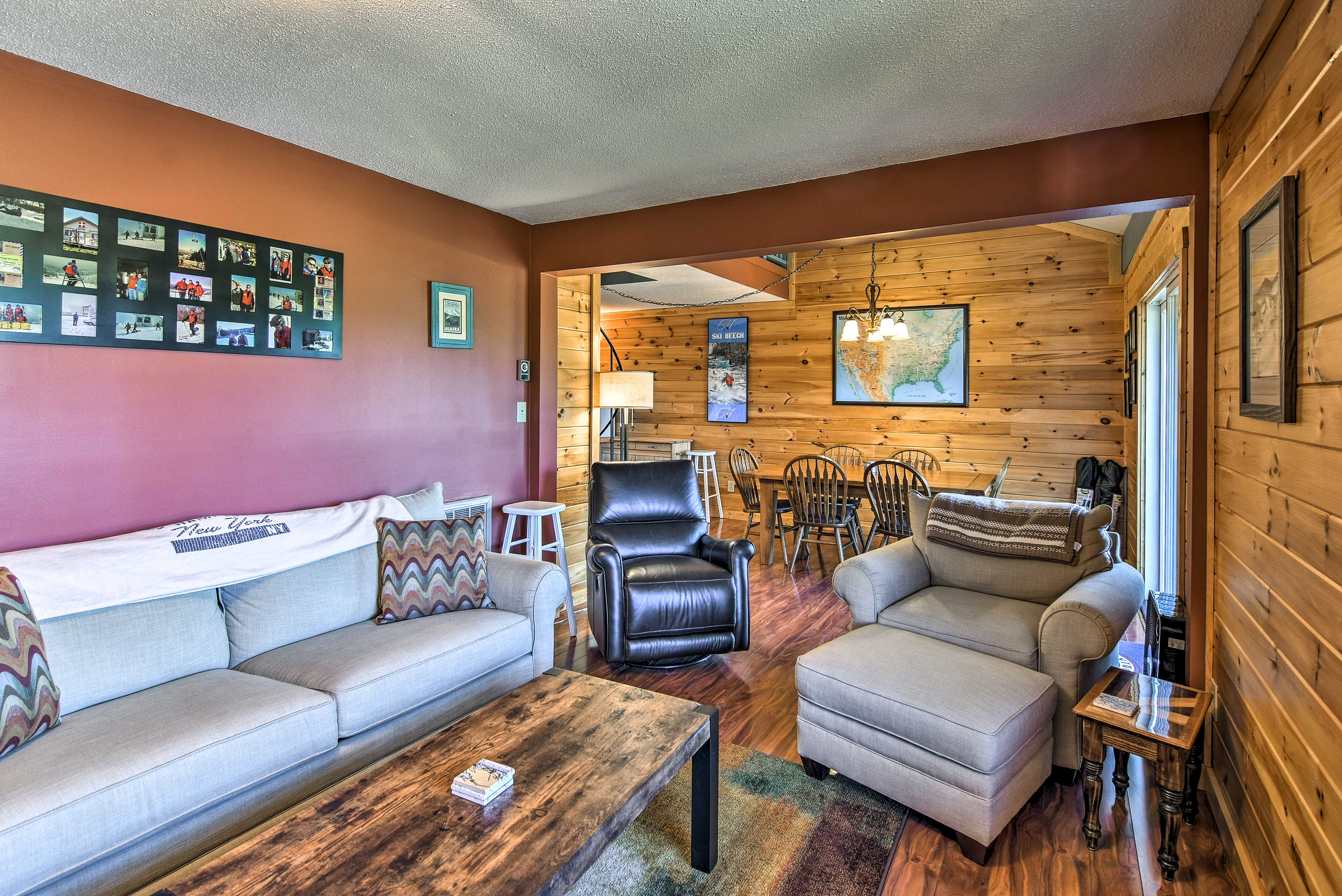 You'll love the wood accents throughout the condo.