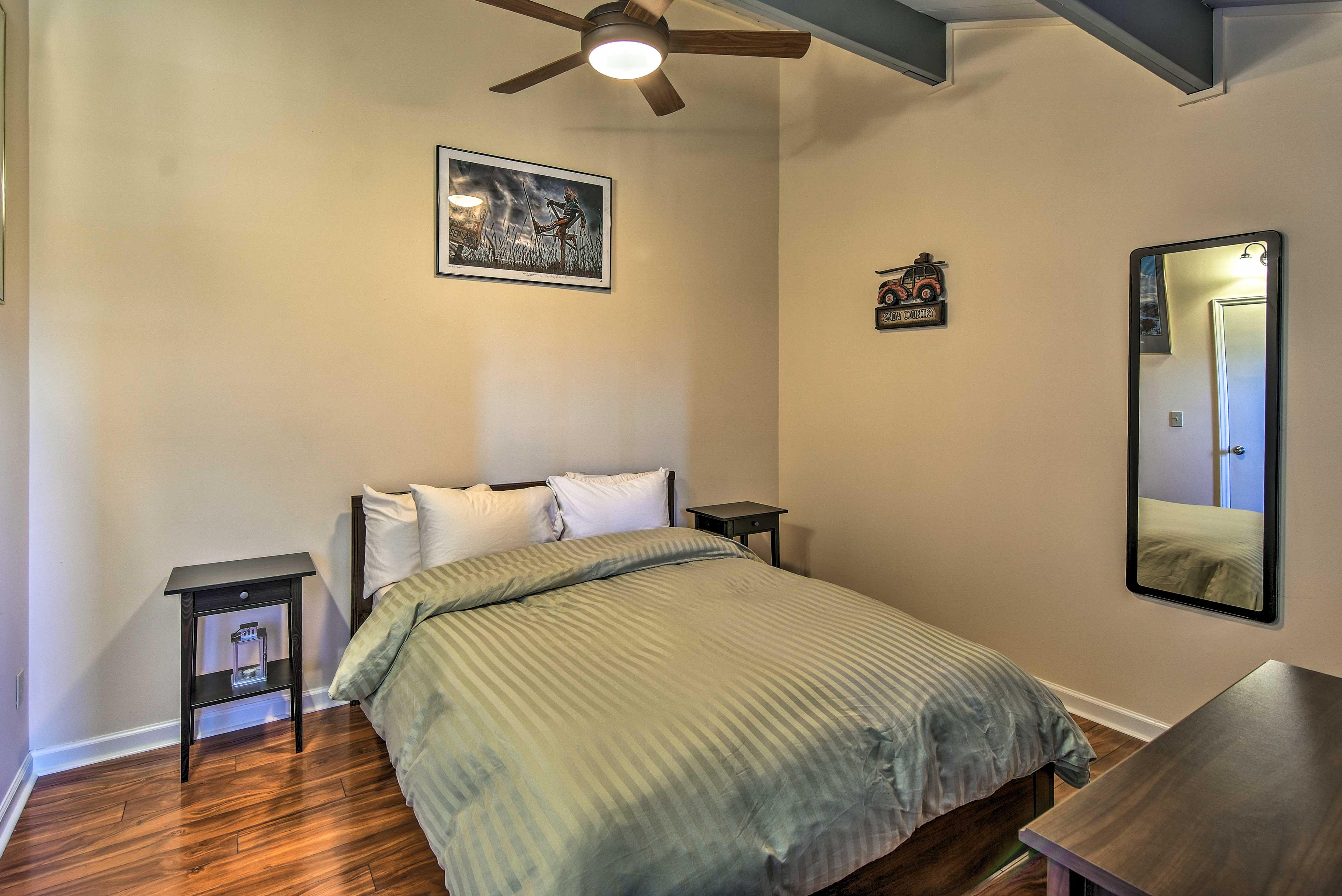 Climb under soft linen sheets for a tranquil slumber!