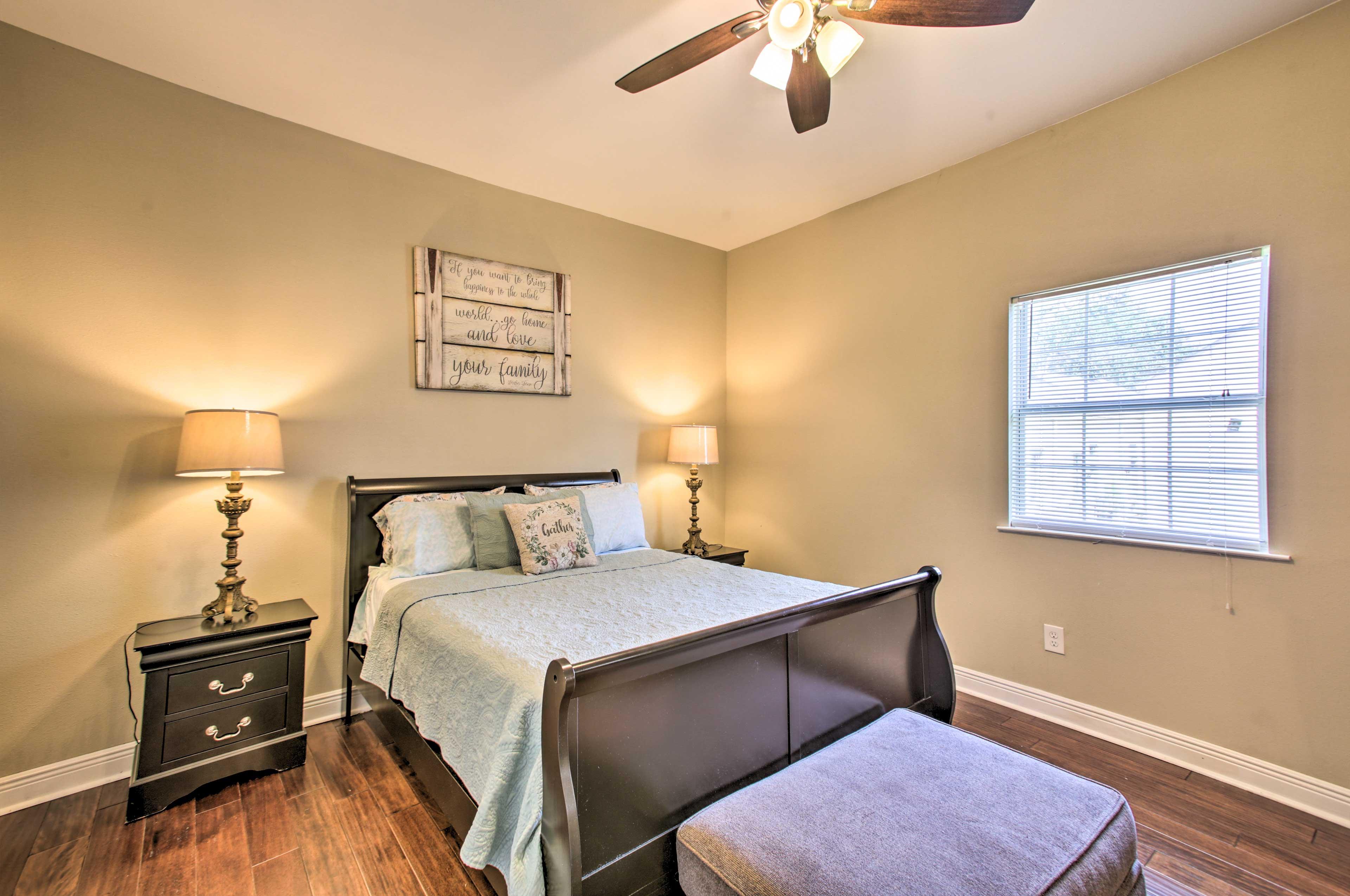 Bedroom 1 | Queen Bed | Sleeper Sofa | En-Suite Bathroom