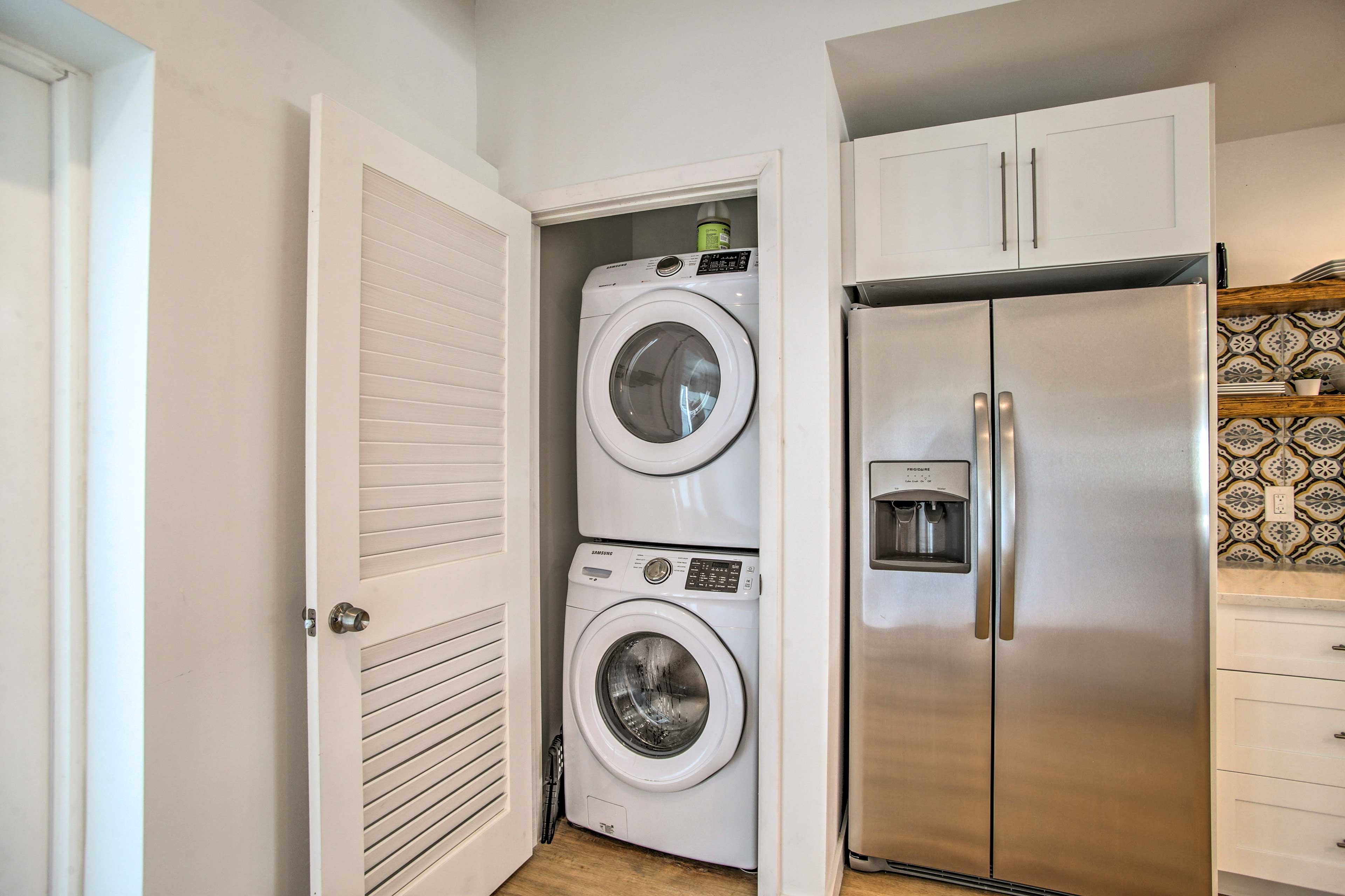 Keep your beach towels fresh with these in-unit laundry machines.