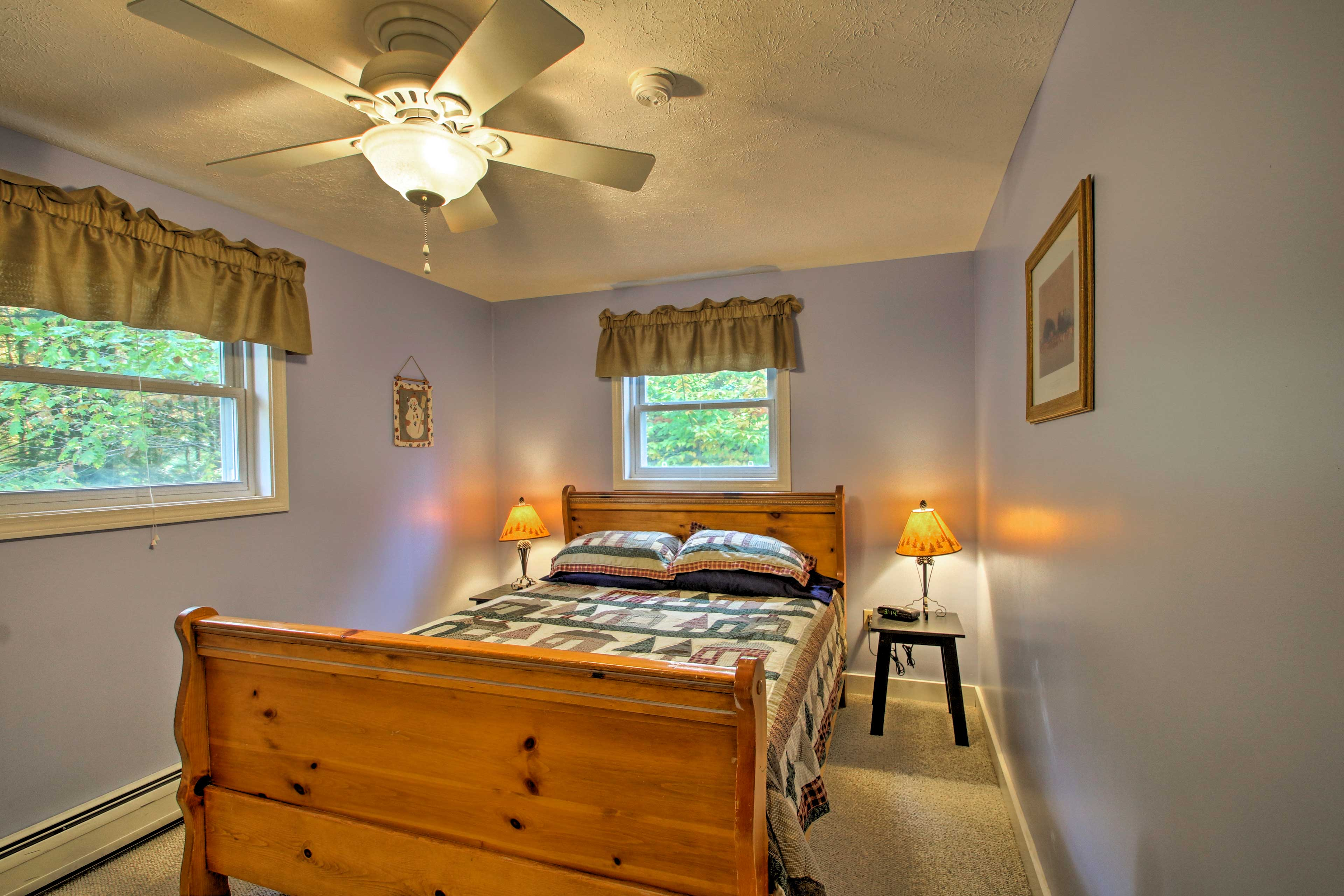 Most of the bedrooms feature queen beds for 2.
