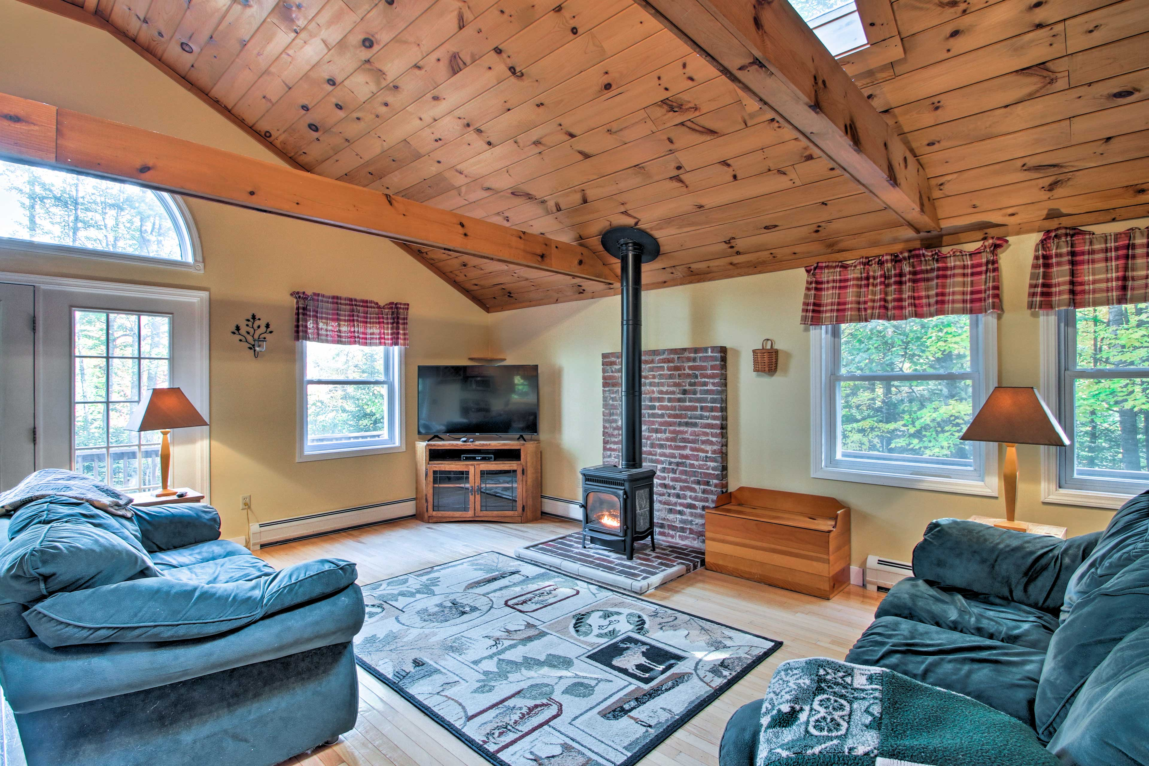 This Bethel vacation rental is located just 3 miles from Sunday River Resort!