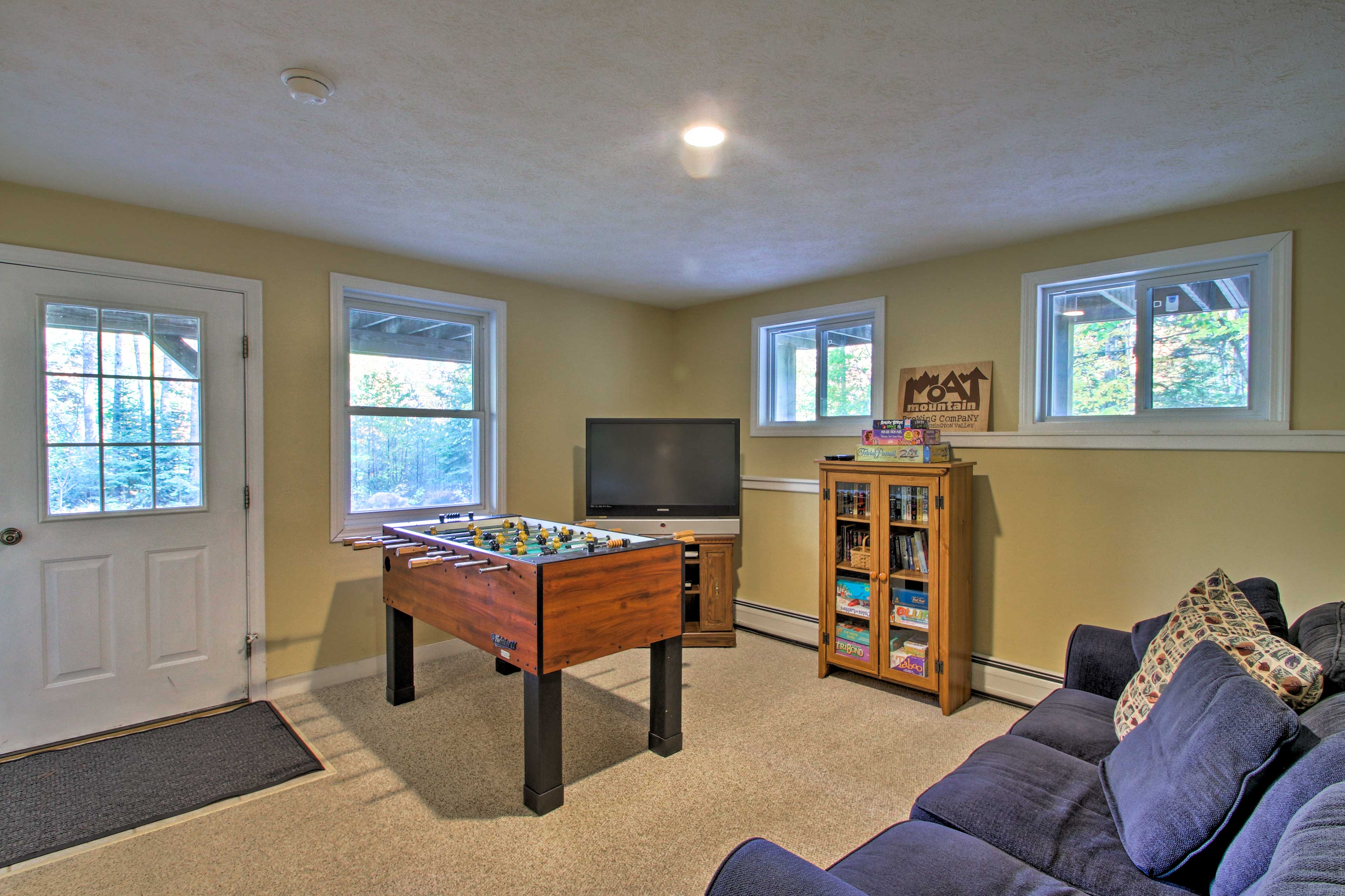 Downstairs, you'll find the perfect entertainment room!