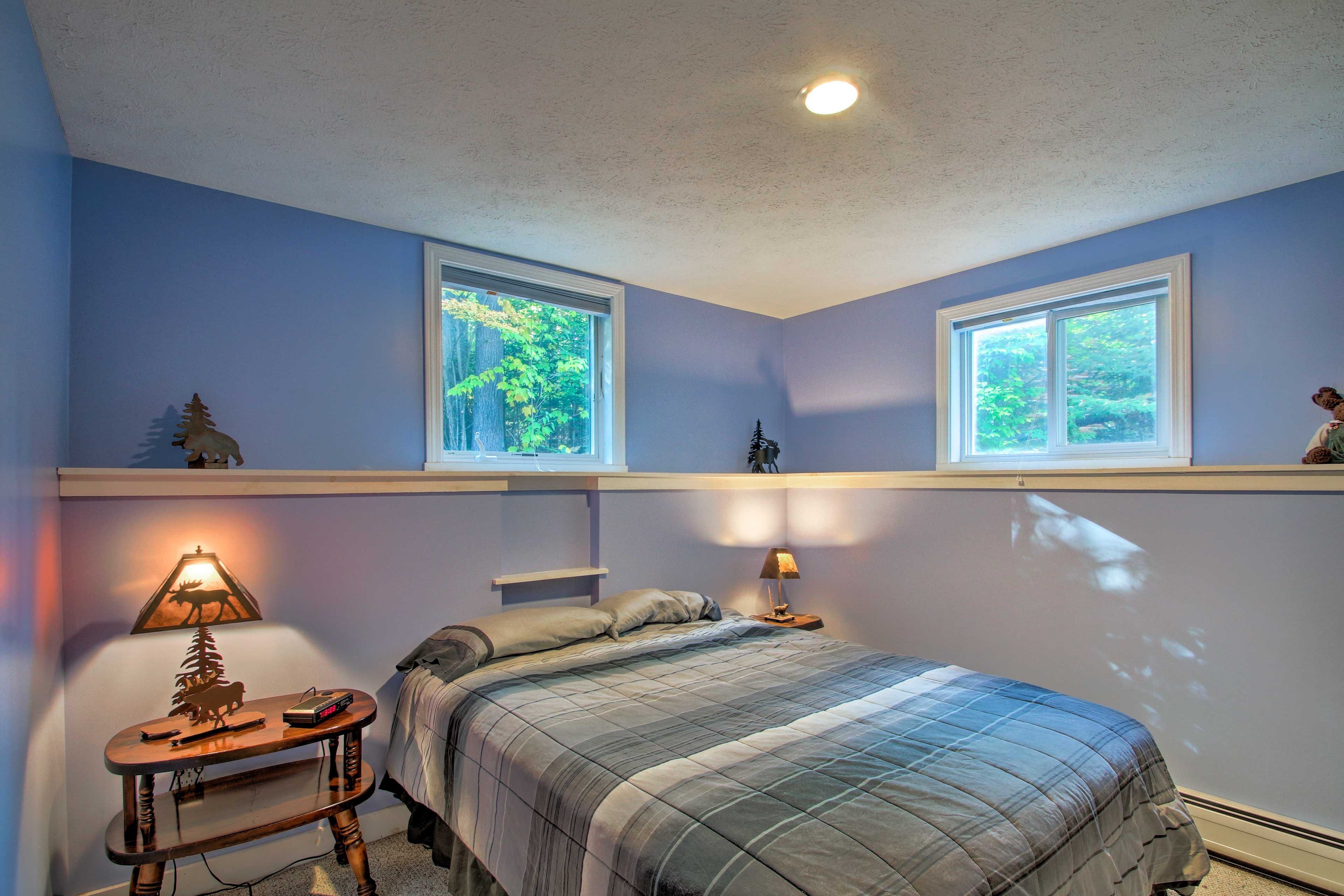 Close the window blinds for a lazy morning in bed.