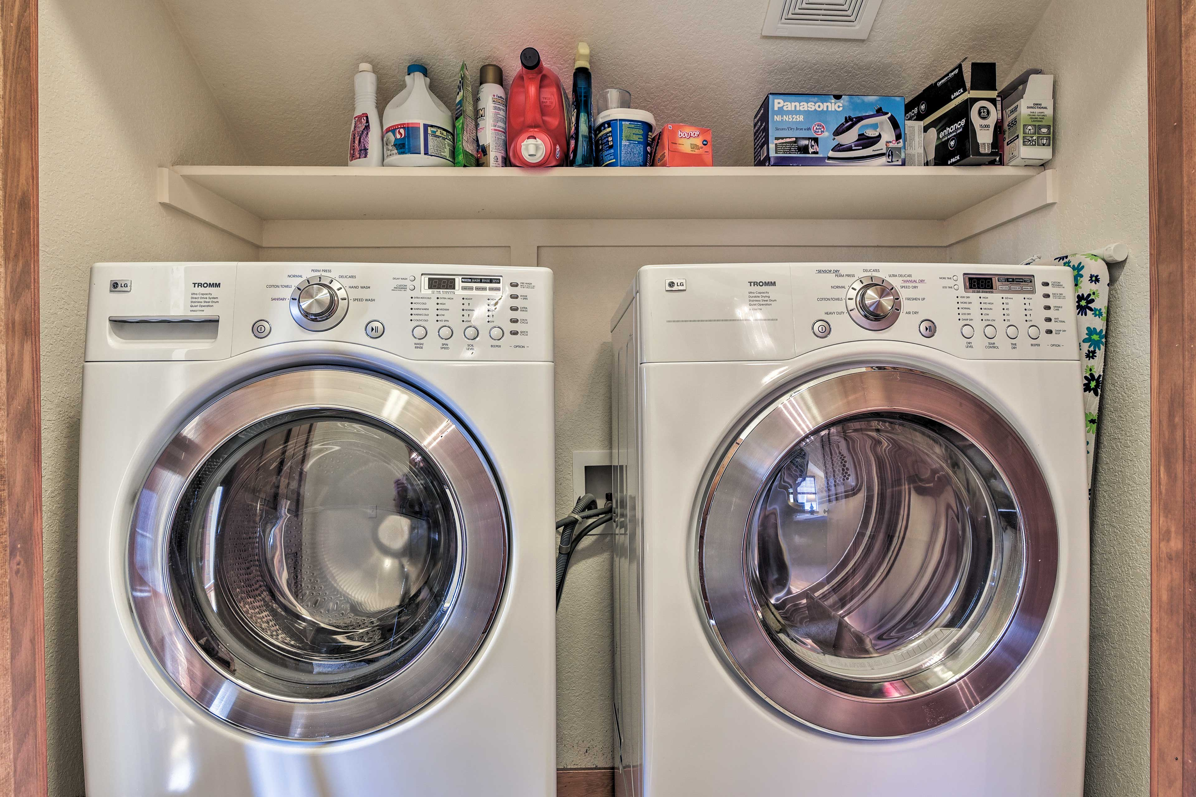 Keep your travel wardrobe fresh with the help of these in-unit laundry machines!