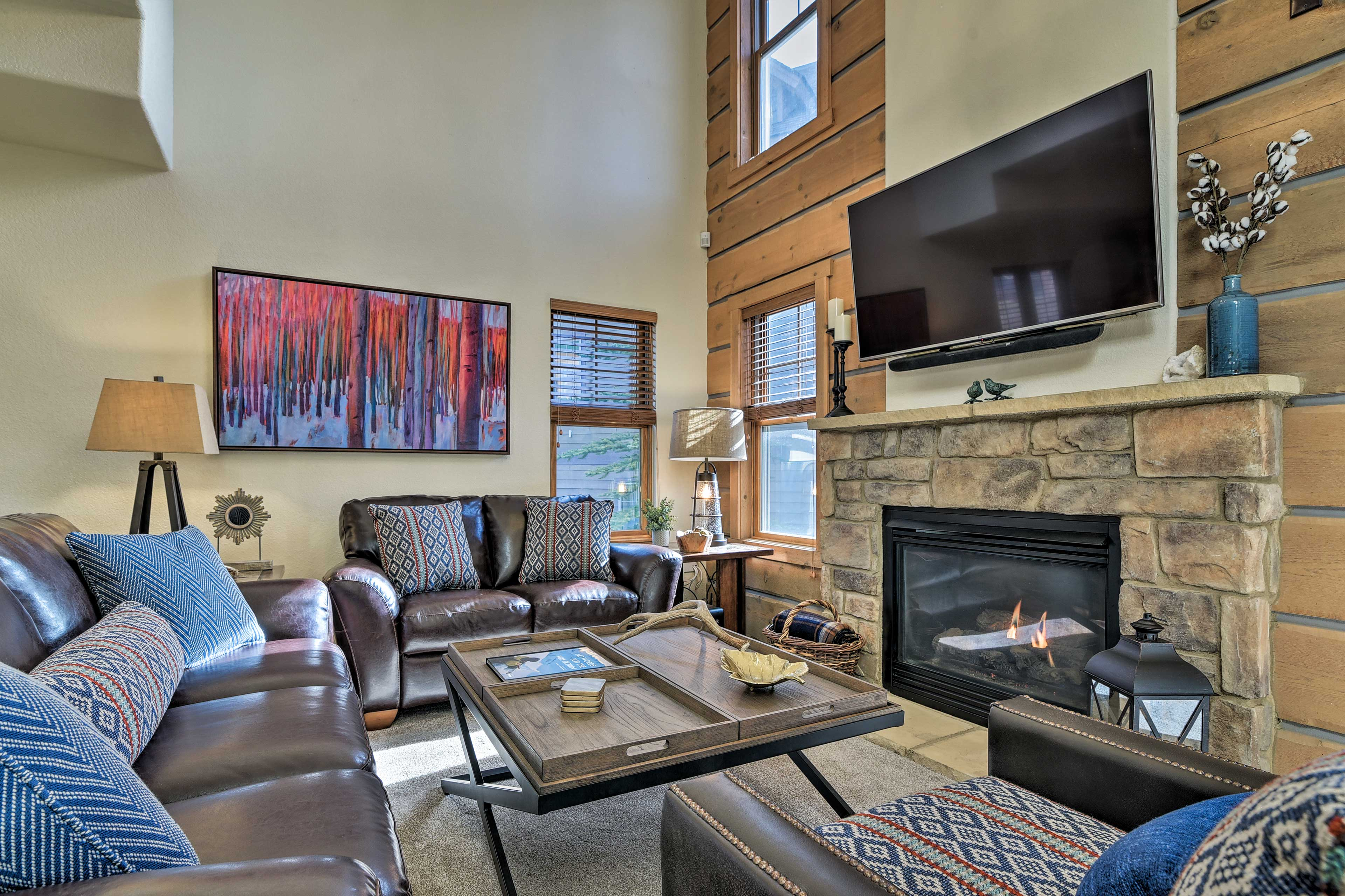 Boasting over 2,000 square feet, this vacation rental hosts up to 9.