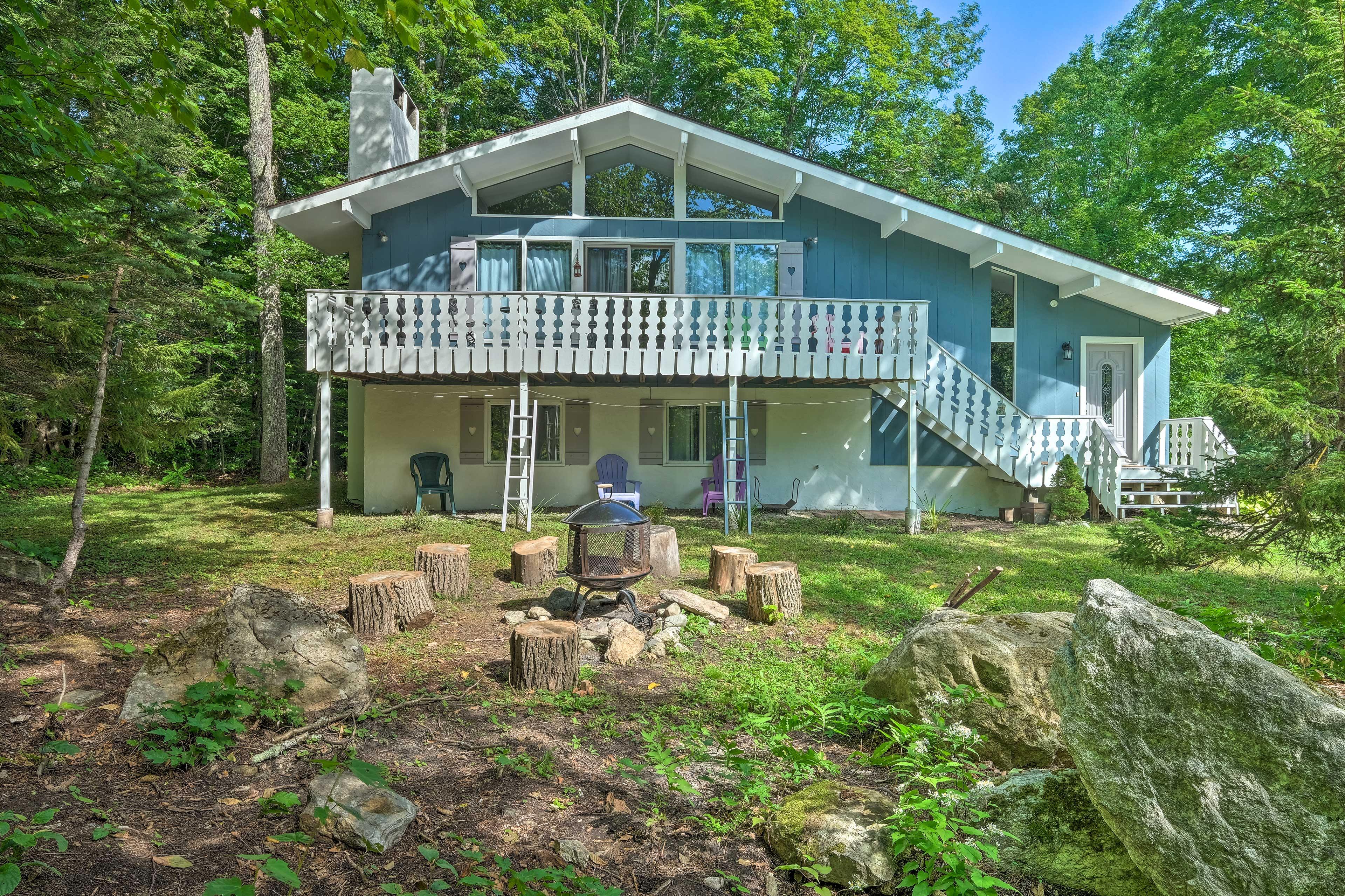 Your private ski chalet awaits at the Stratton Mountain vacation rental!