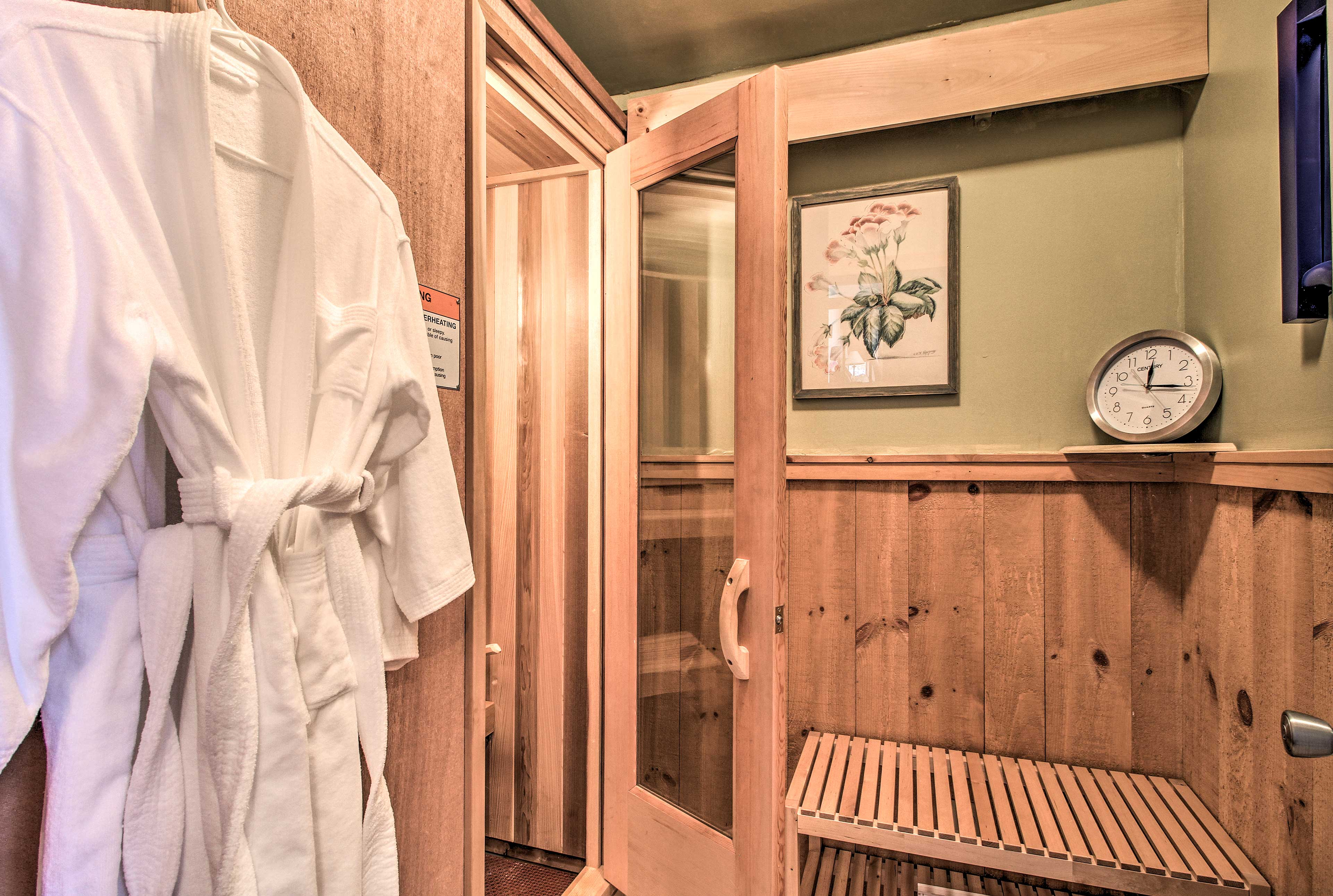 This private sauna is the perfect way to relax after a day on the slopes.