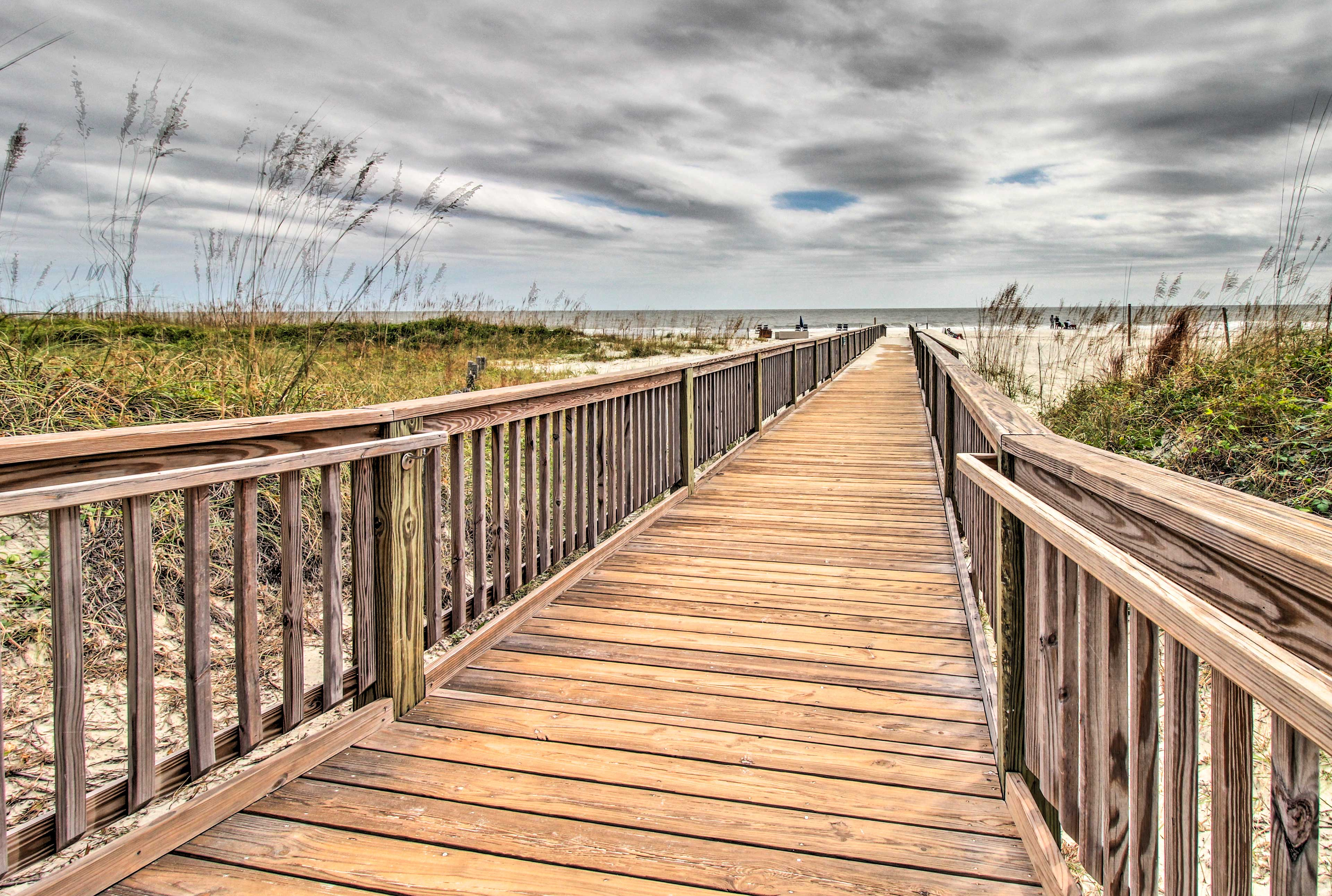 Easily access the beach from the private boardwalk!
