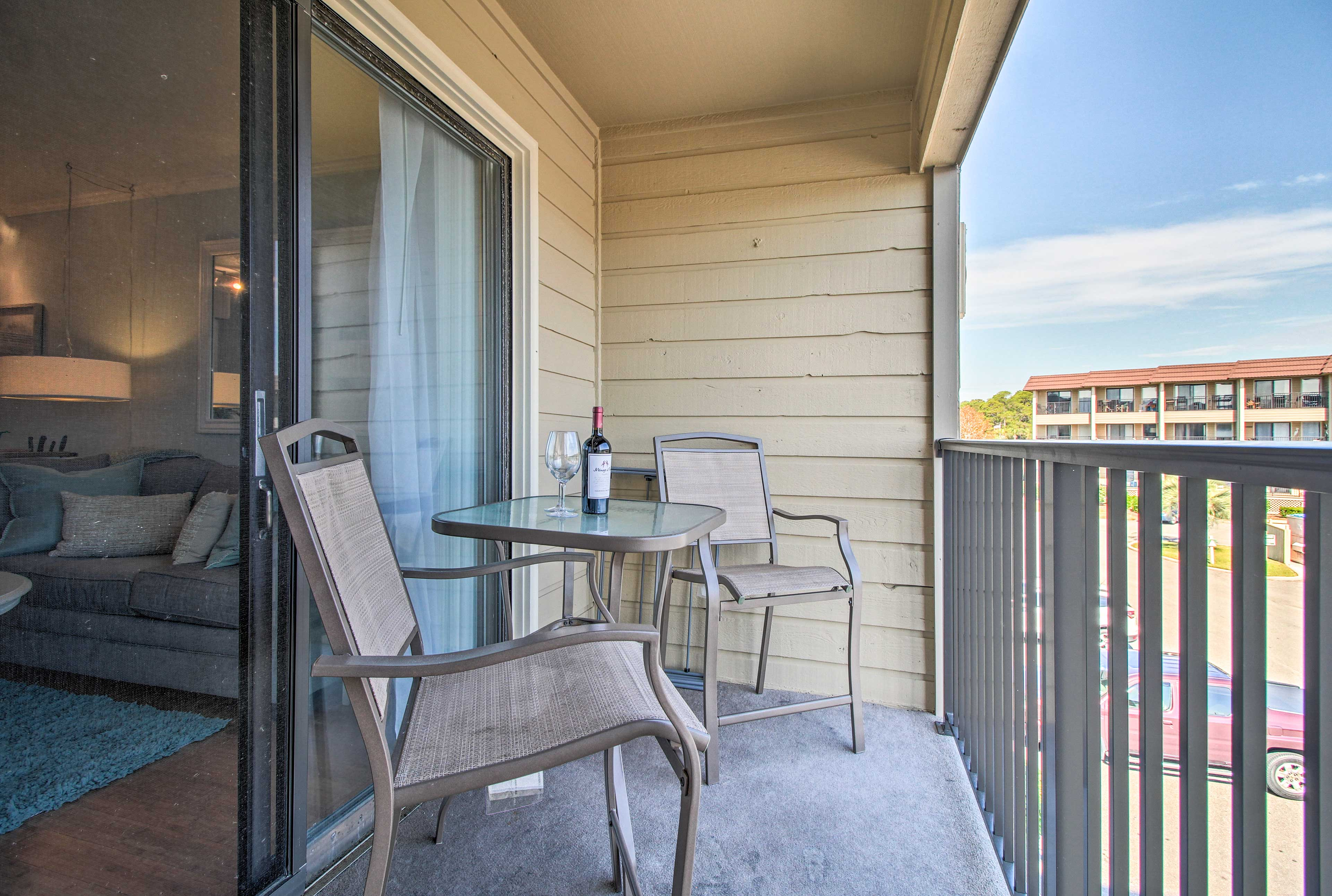 Sip on your morning coffee on your private balcony!