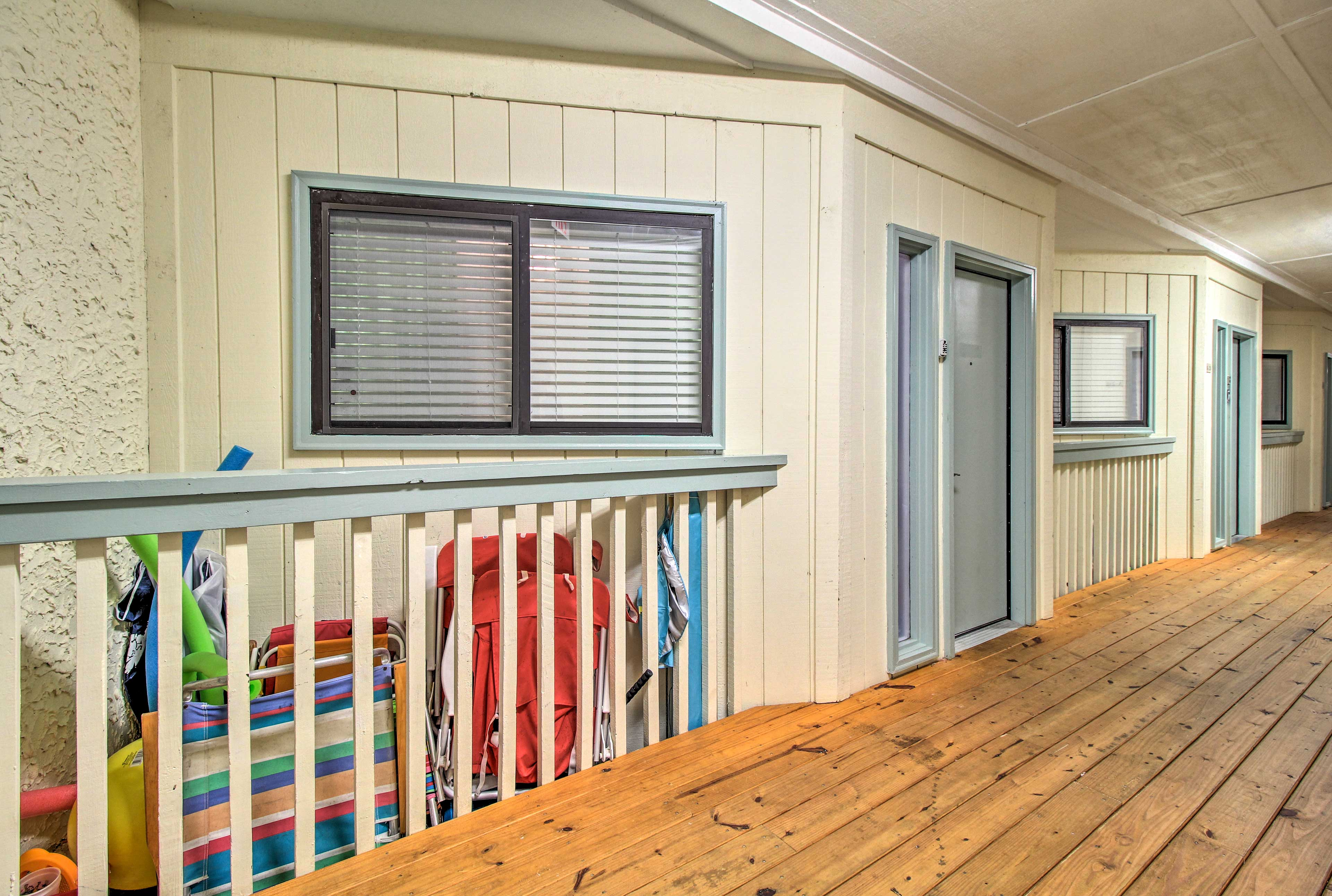 Enjoy all of the beach toys that come with this property!