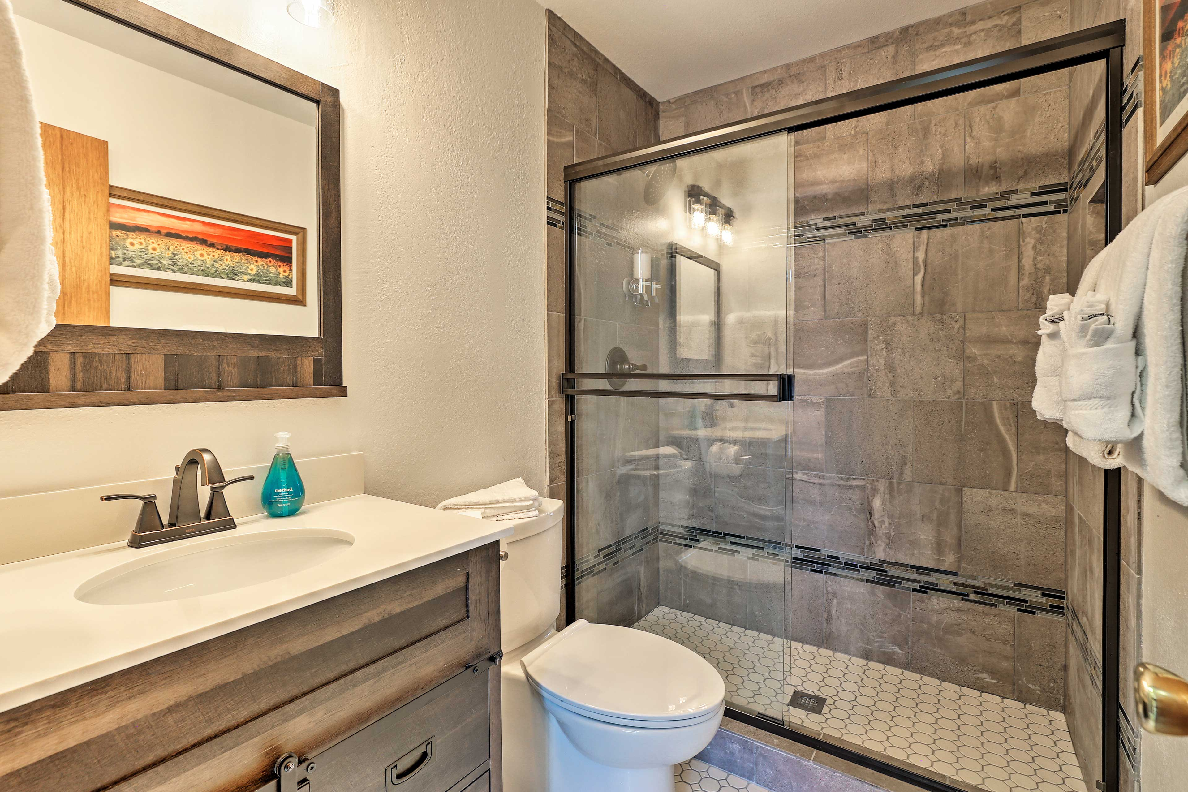 A second full bathroom provides extra space for your crew to get ready!
