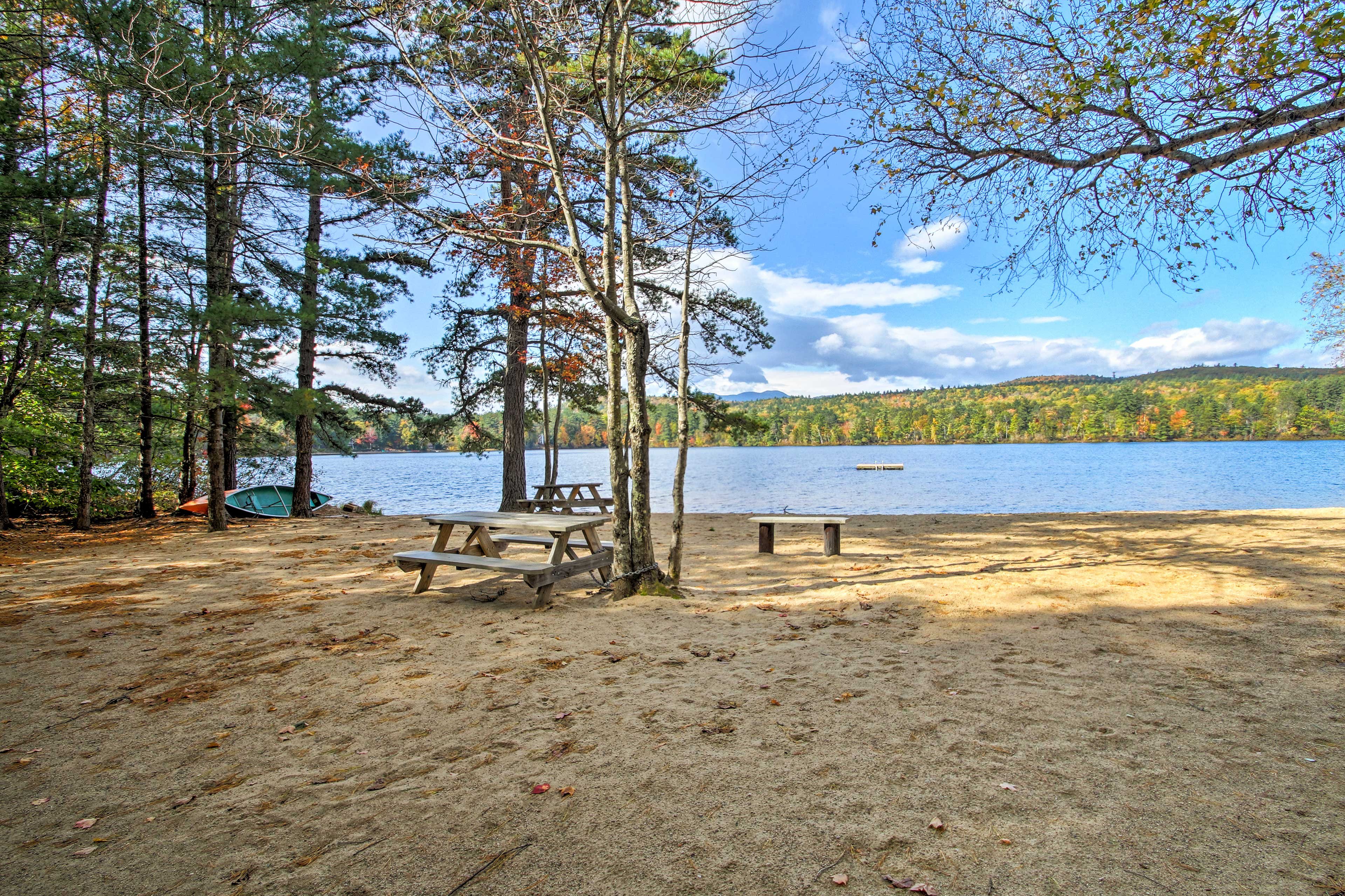 The property is just minutes from Pequawket Pond and beach!