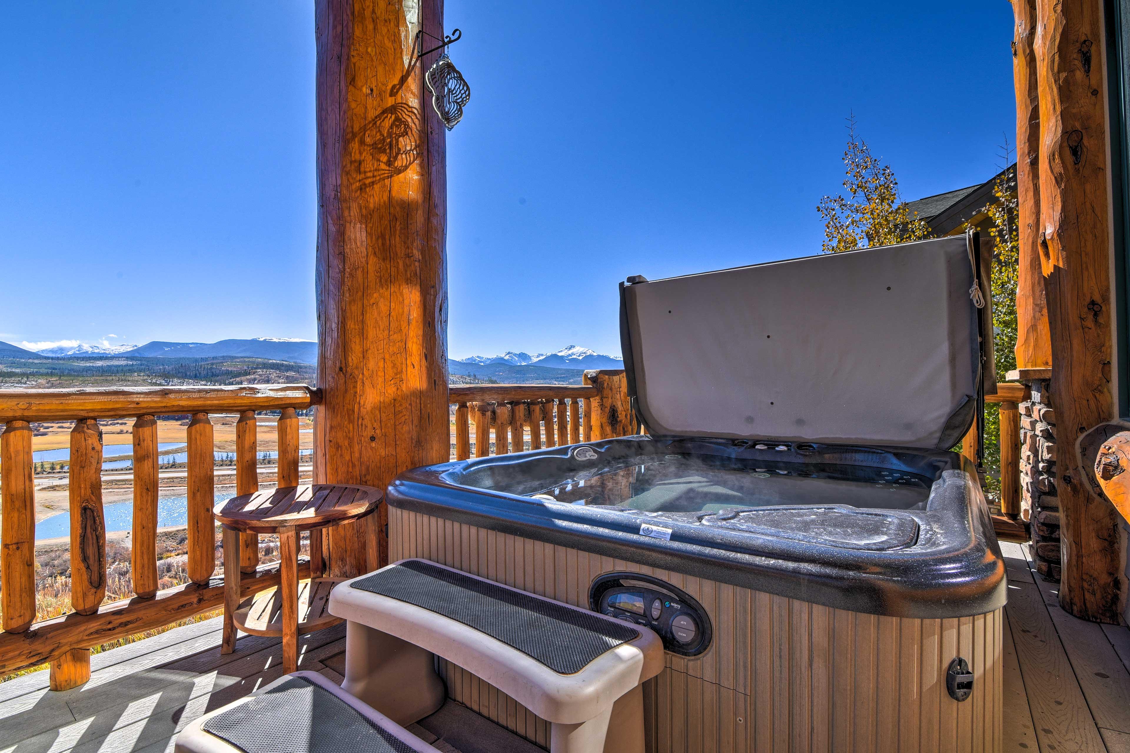 Private Hot Tub | Downtown, River & Ski Slope Views