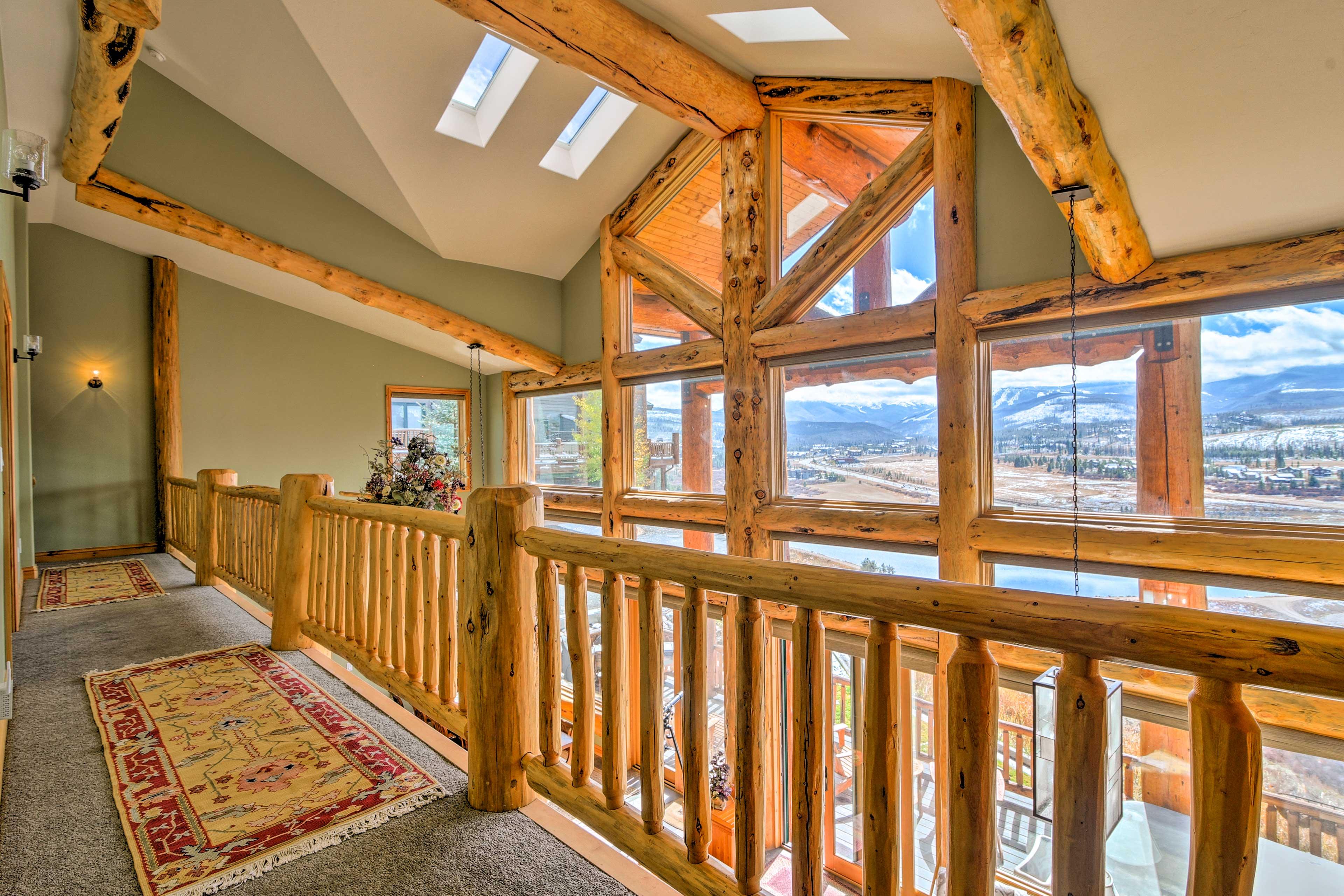 Upstairs Bedroom Hallway | Skylights | Lofted Ceilings