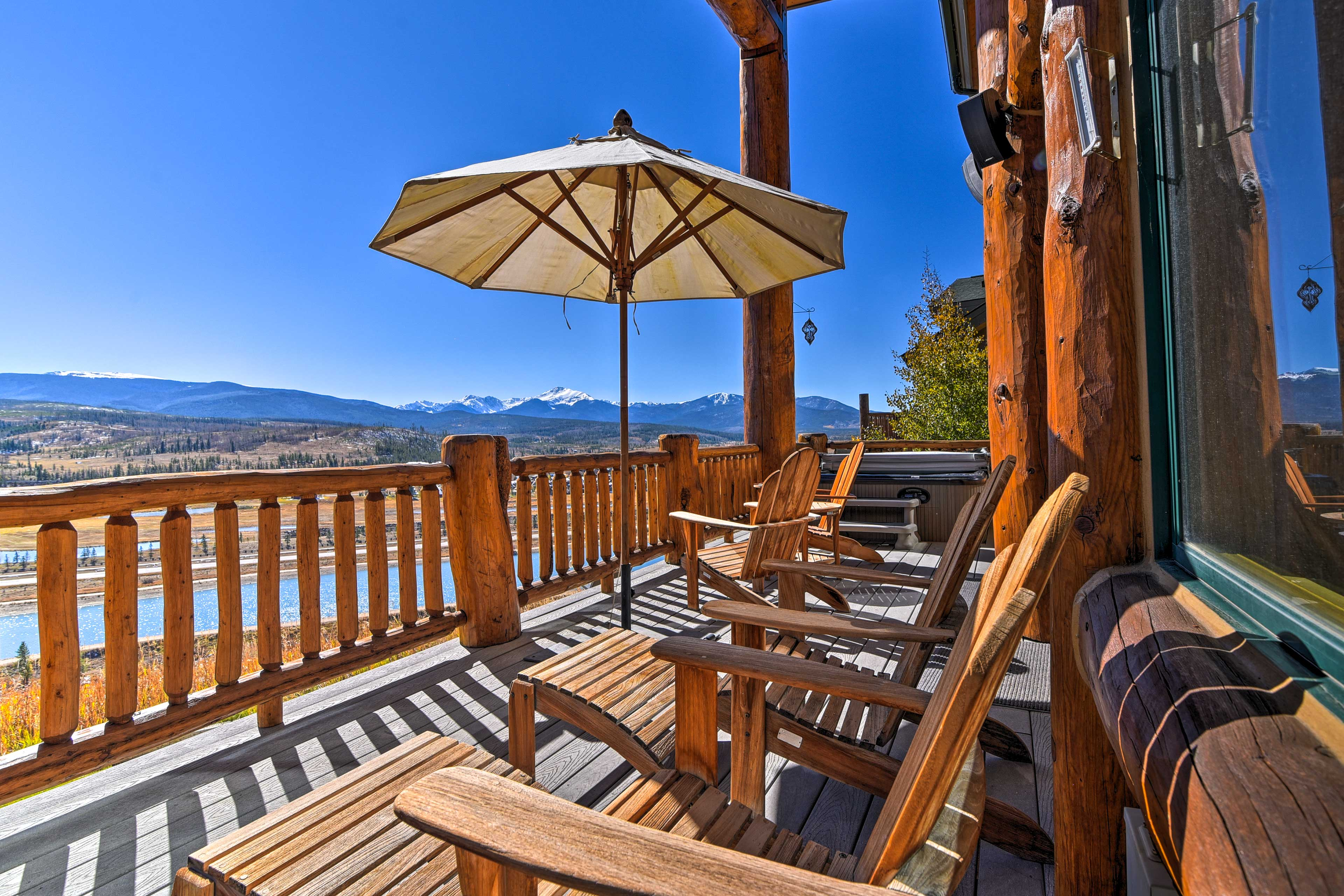 Gather on the deck to watch the sunset from the hot tub!