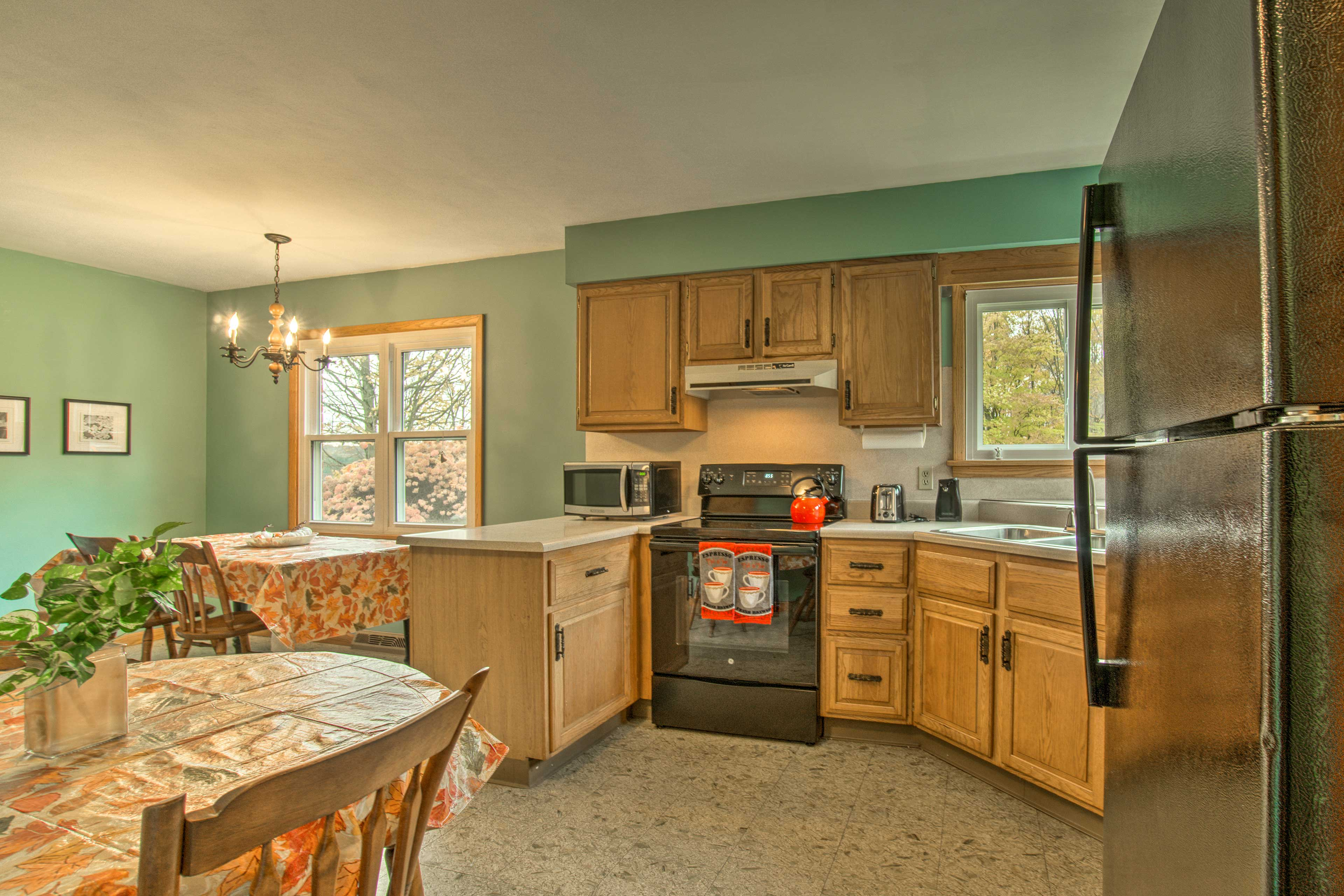 Inside, you'll find a fully equipped kitchen ready to handle all of your needs!