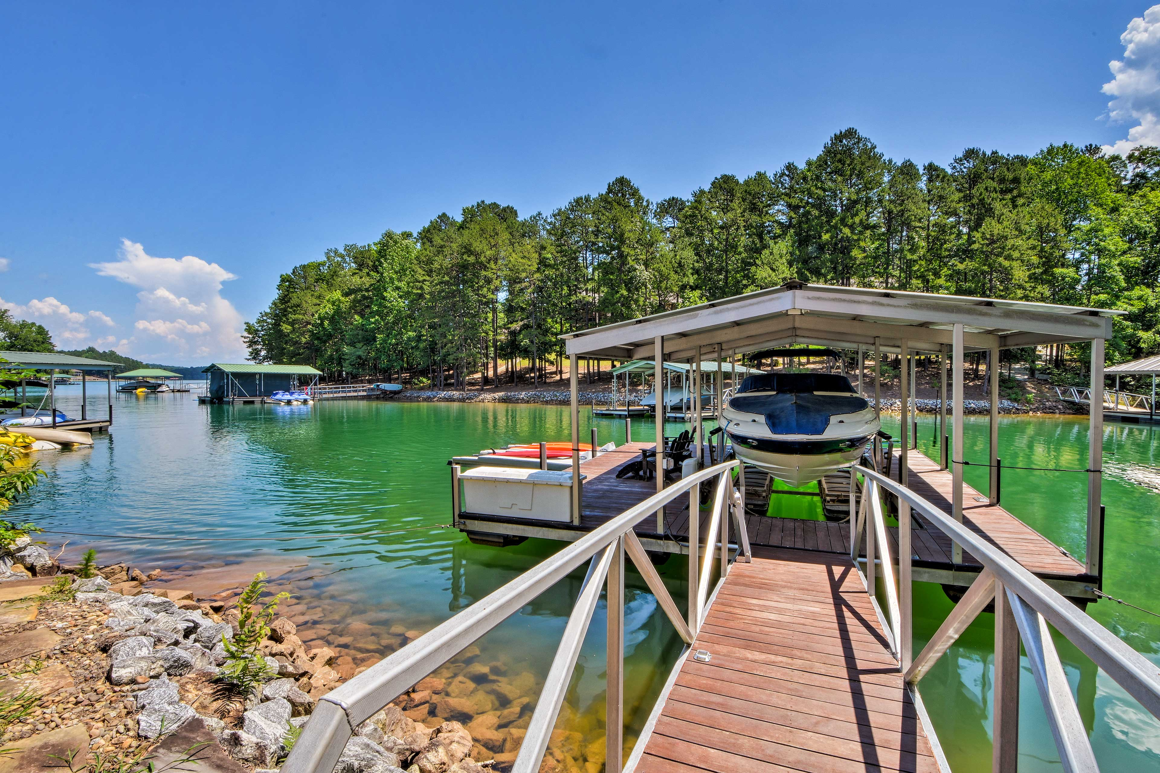Sit back in the Adirondack chairs and watch your group swim or boats cruise by.