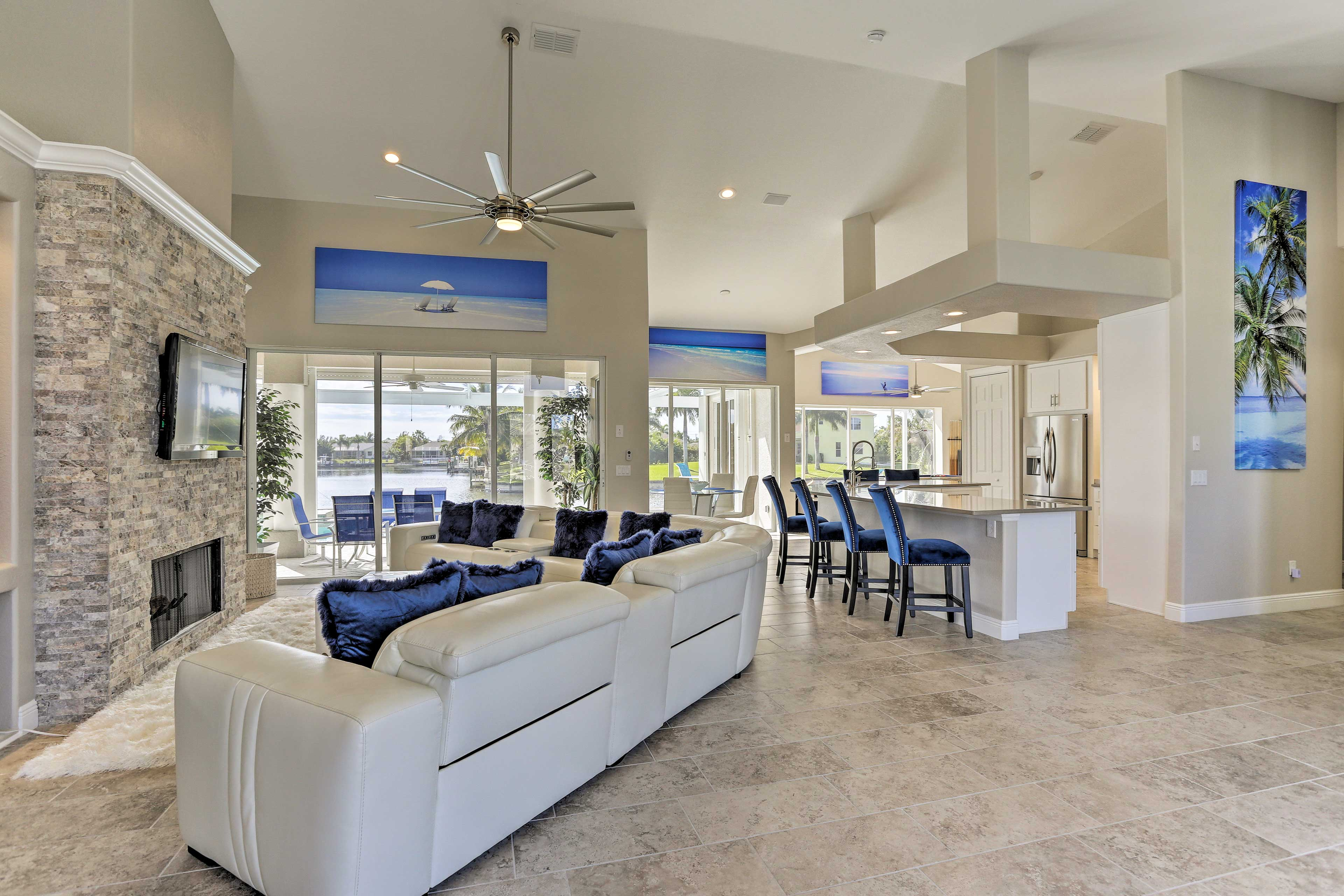Book this pristine Cape Coral home for your next seaside soirée!