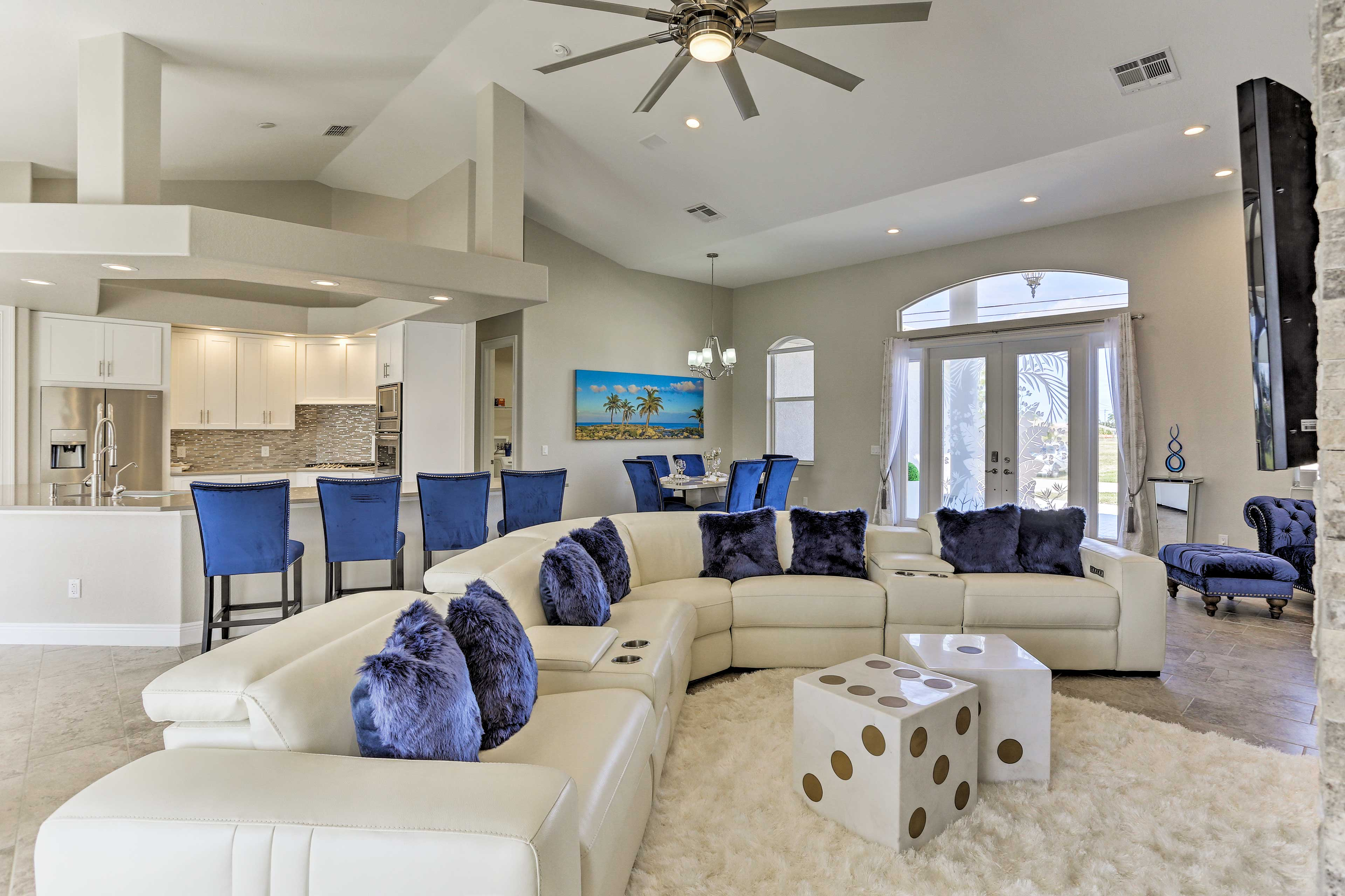 The interior features 2,600 square feet of carefully desinged living space.