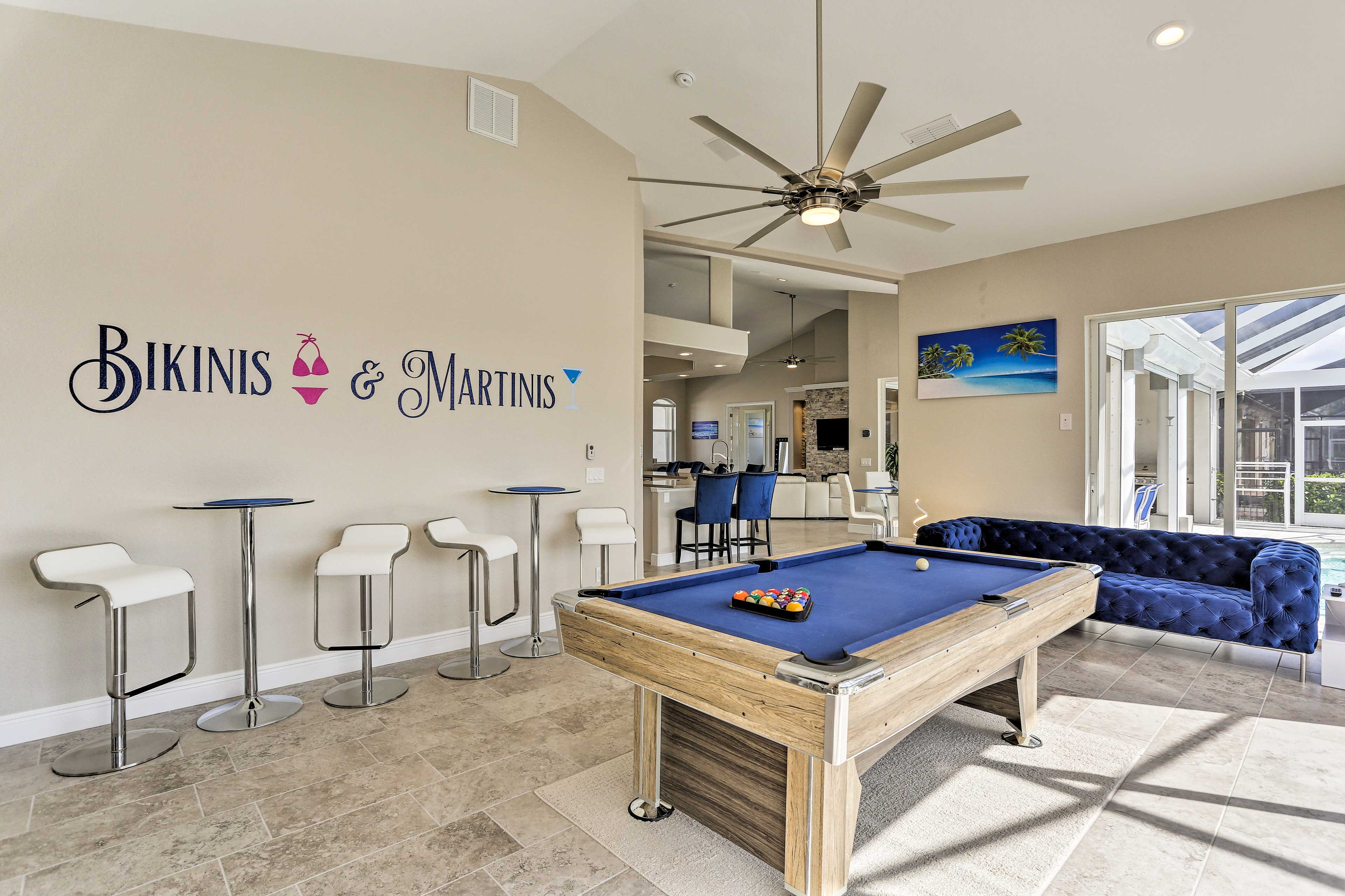 Keep the party going in the game room!