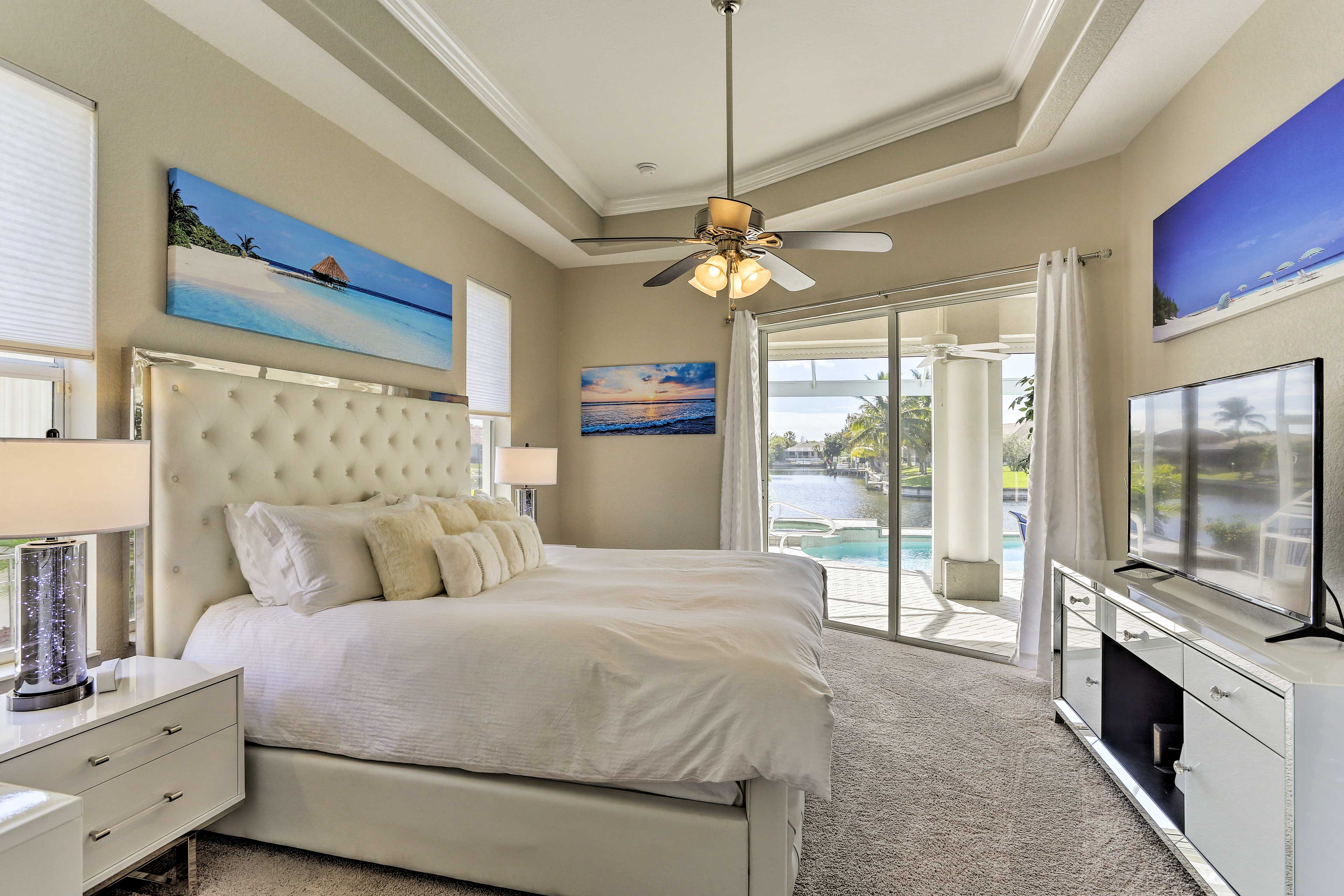 The house features 3 tastefully furnished bedrooms.