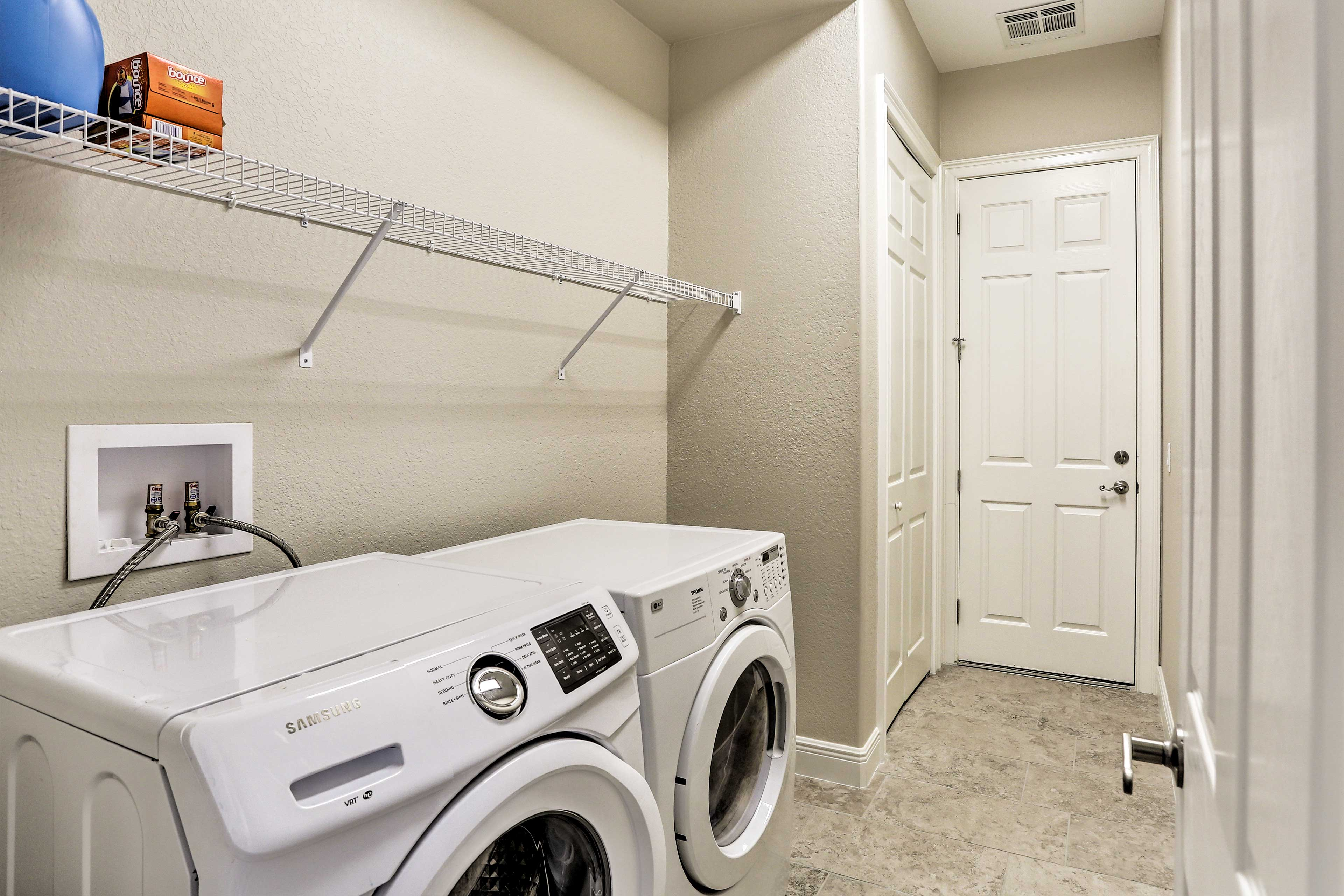 Keep your swimsuits fresh using the in-house laundry machines.