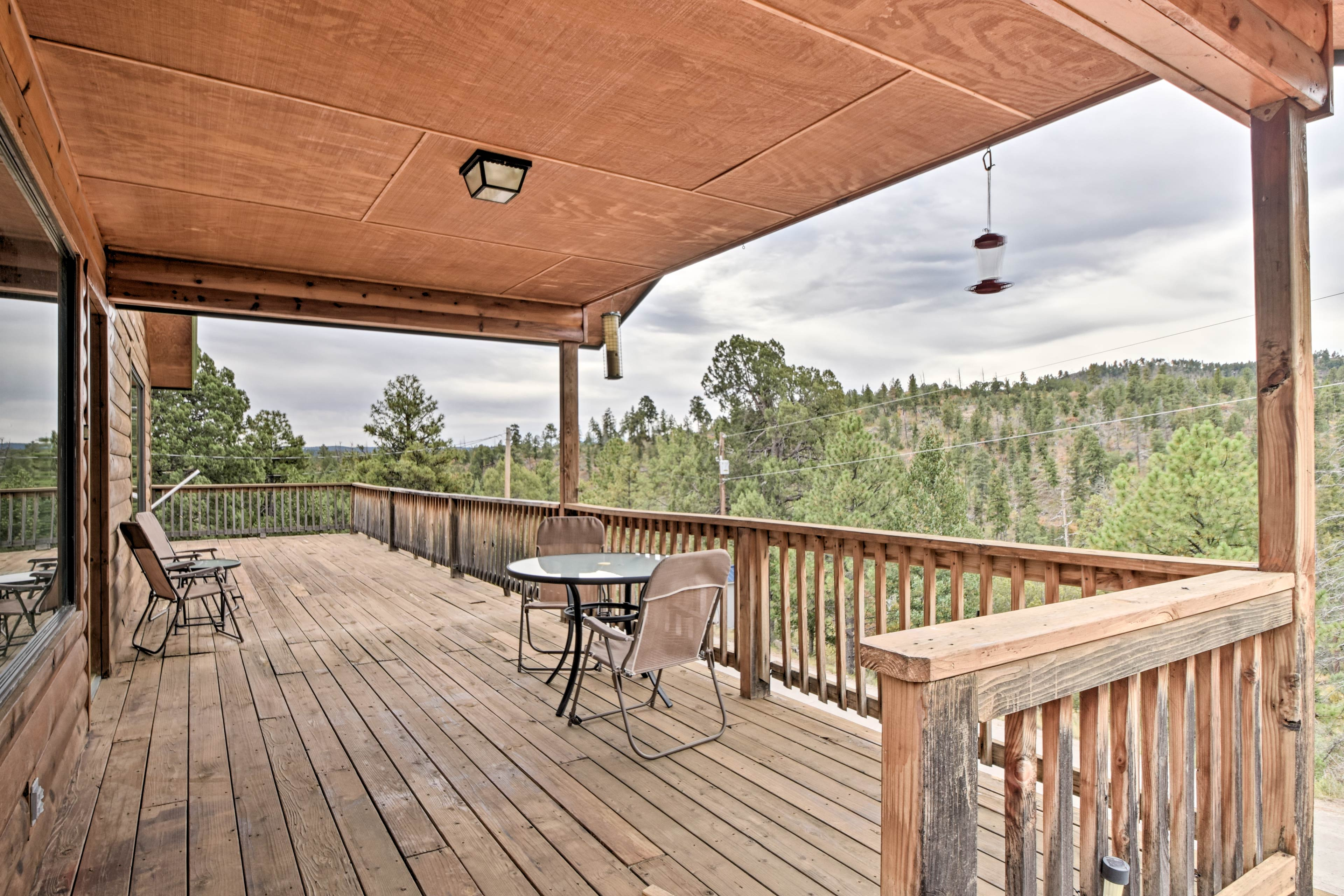 This home for 4 offers a large deck and spacious interior.