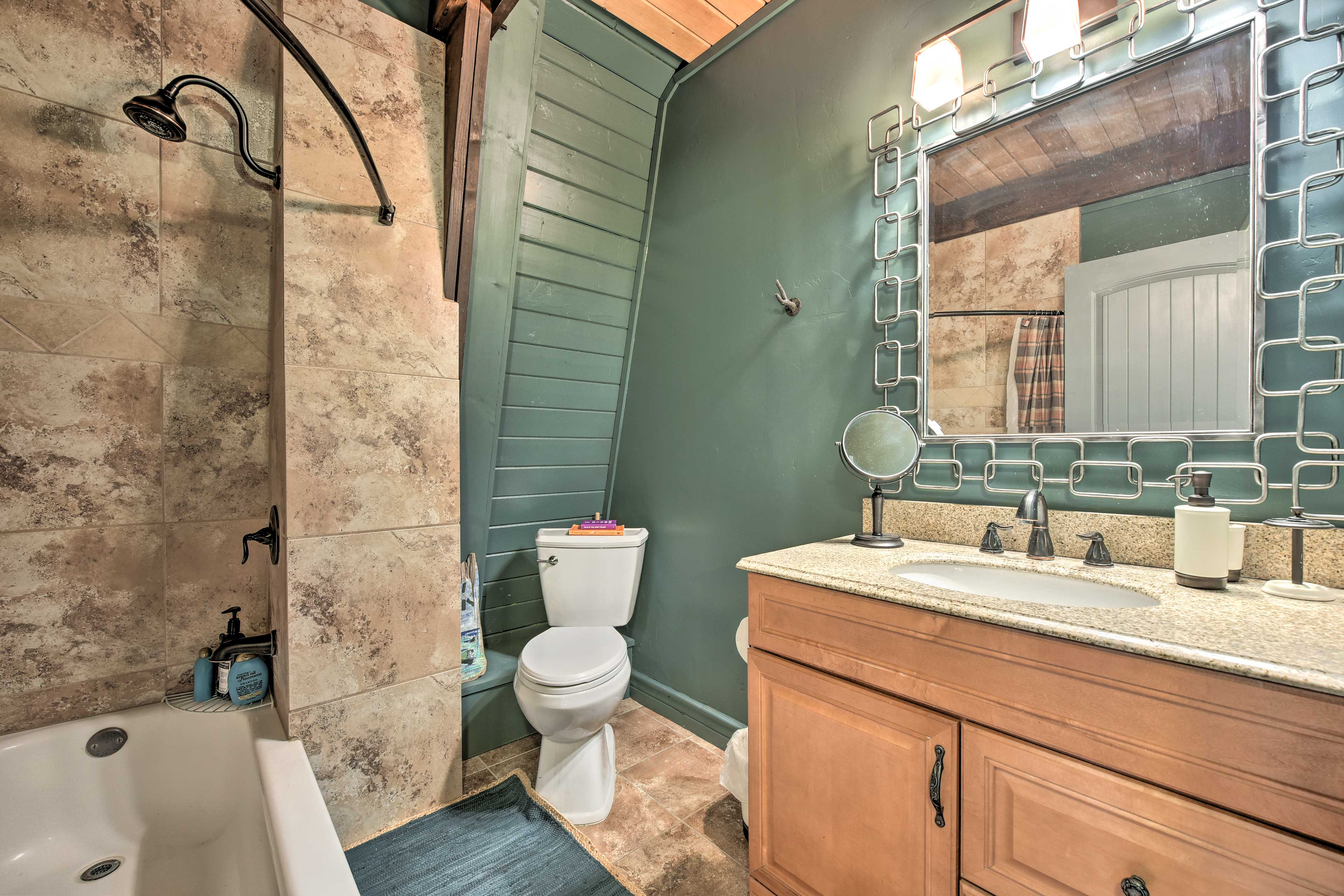 The cabin contains 2 full bathrooms.
