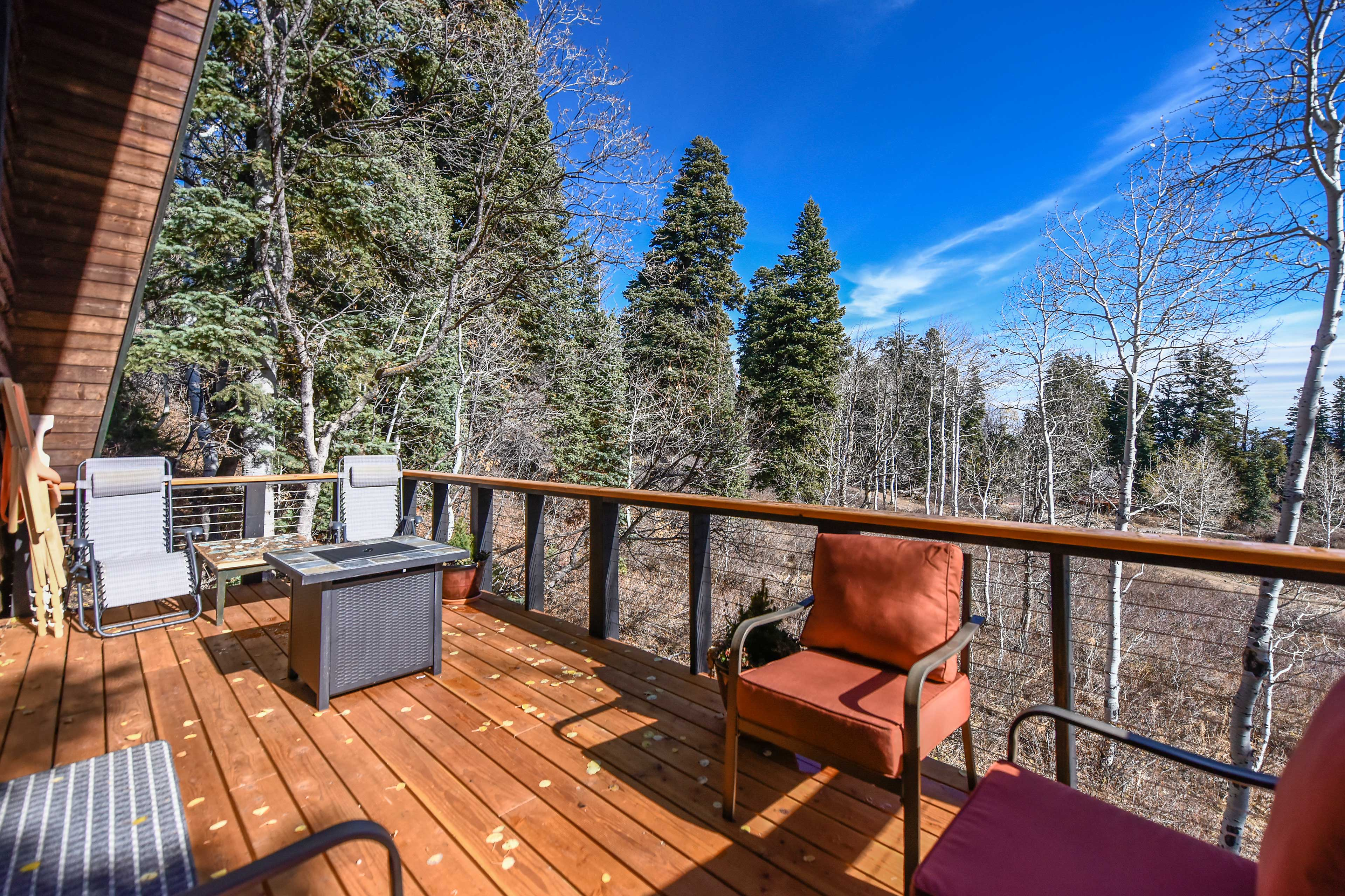 Newly built and fully furnished, the deck will easily become your favorite spot!