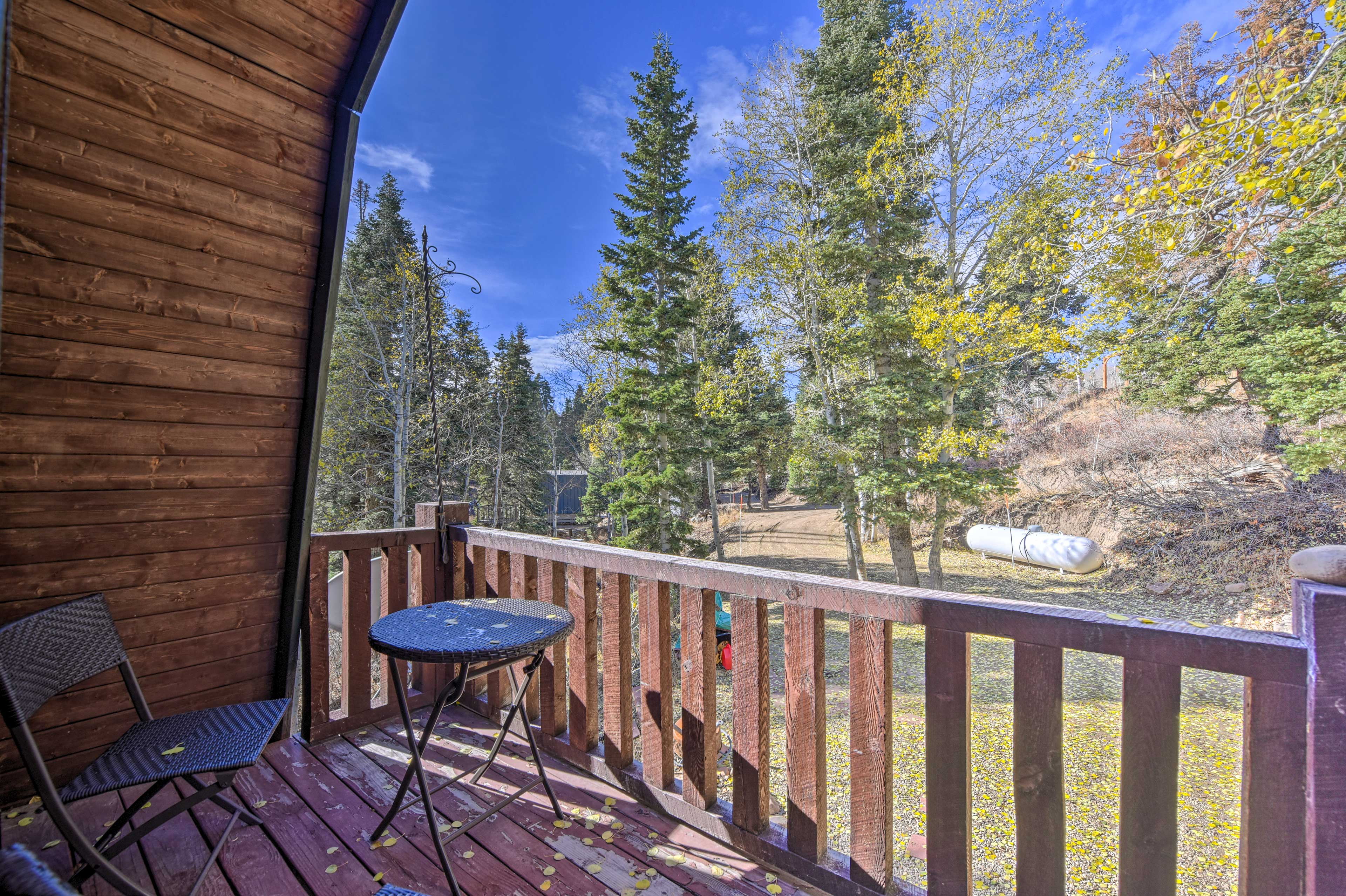 Start each morning with a dose of fresh alpine air on the balcony.