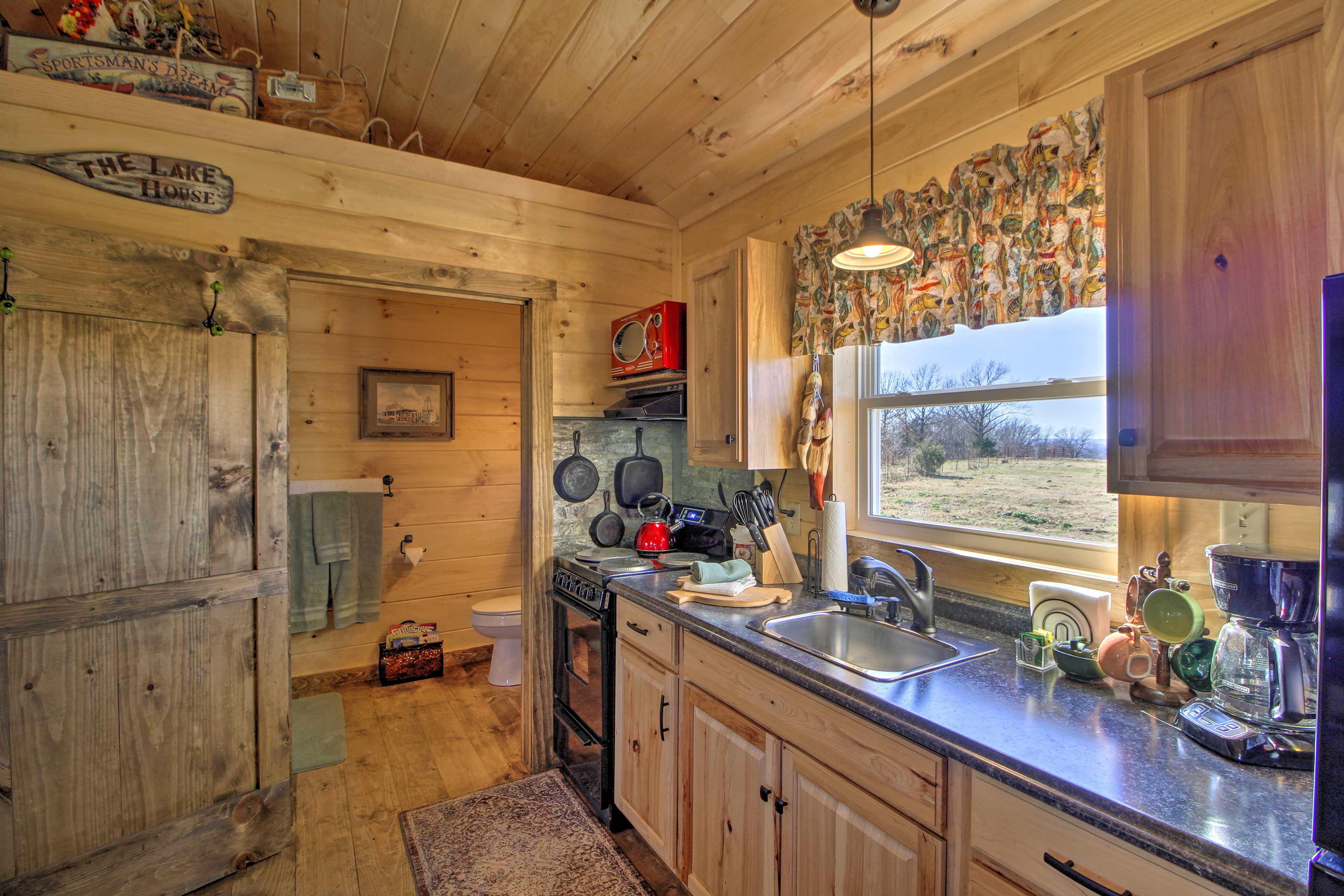The kitchen is well-equipped so you can enjoy your favorite meals while away.