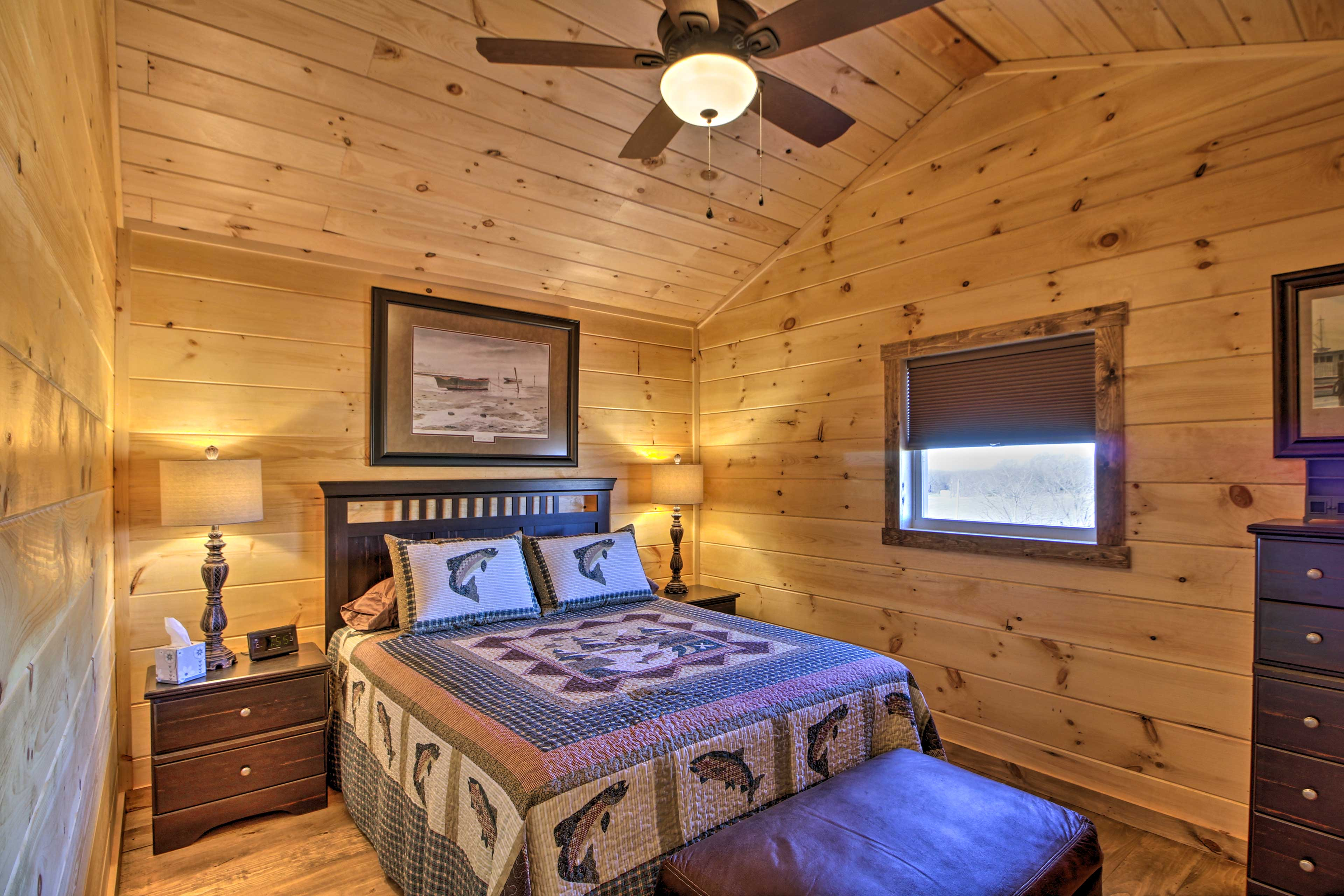 Two guests can claim the bed and 2 can claim the sleeper sofa.