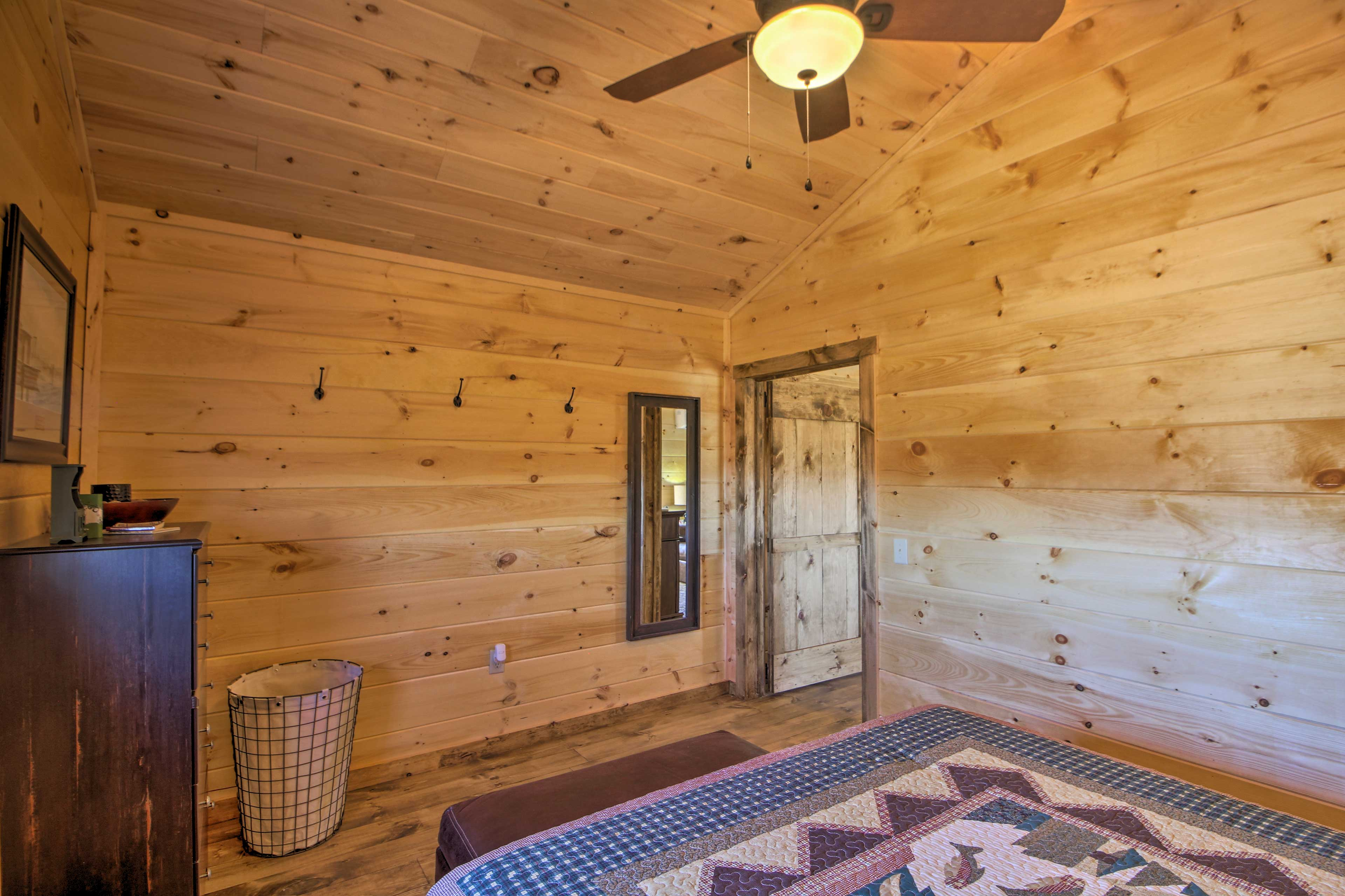 Enjoy the privacy of a totally separate bedroom.