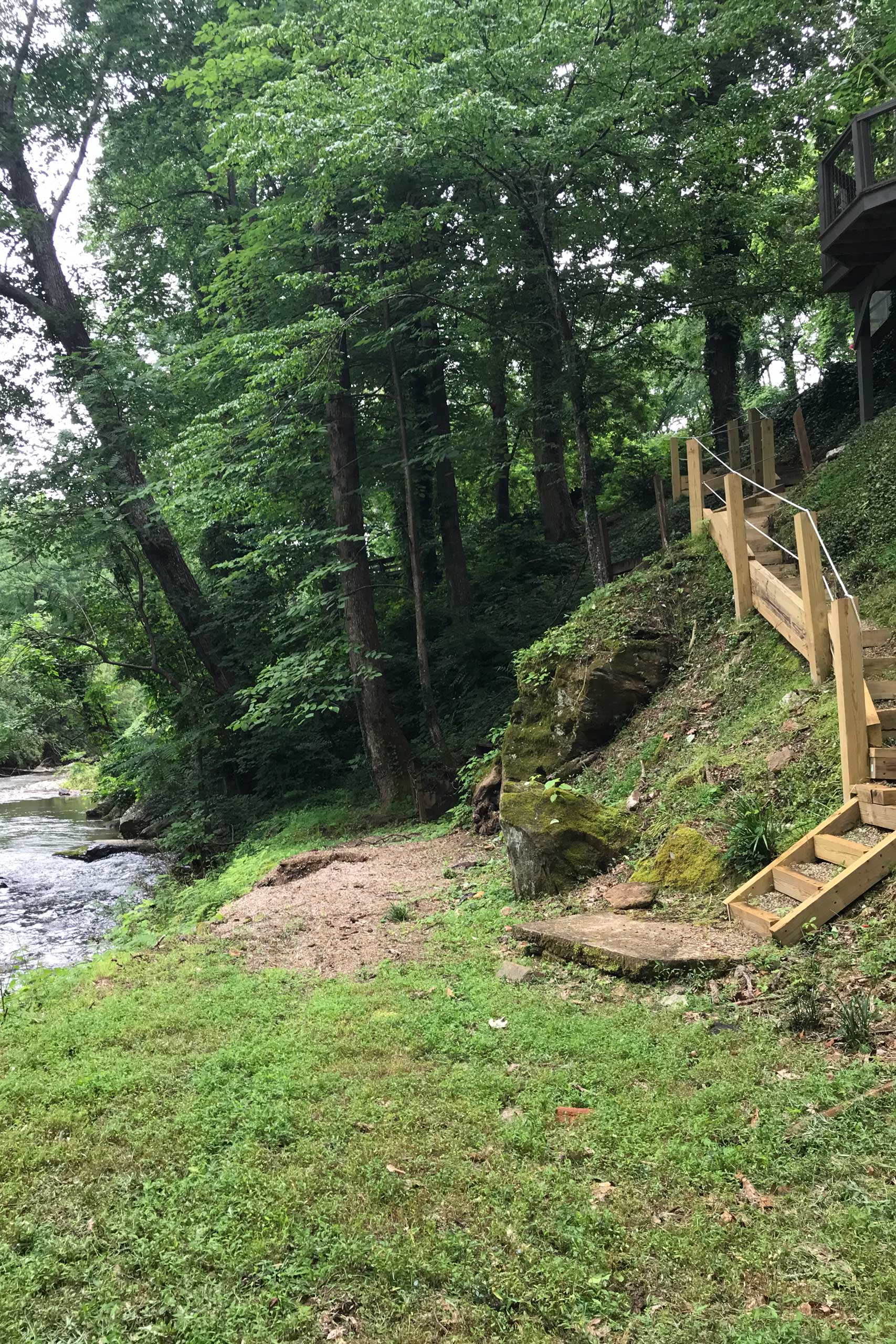 These brand new steps will make it easy to enjoy the river.