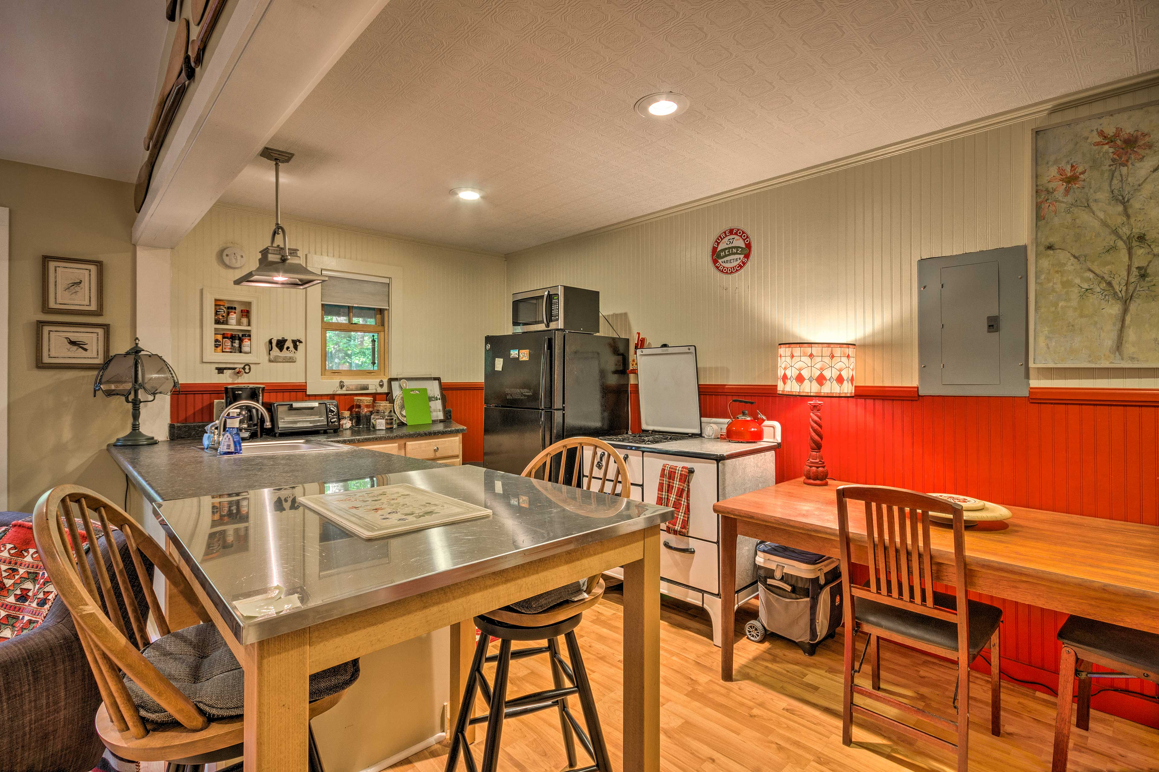 You'll have essential appliances and ample counter space at your disposal.