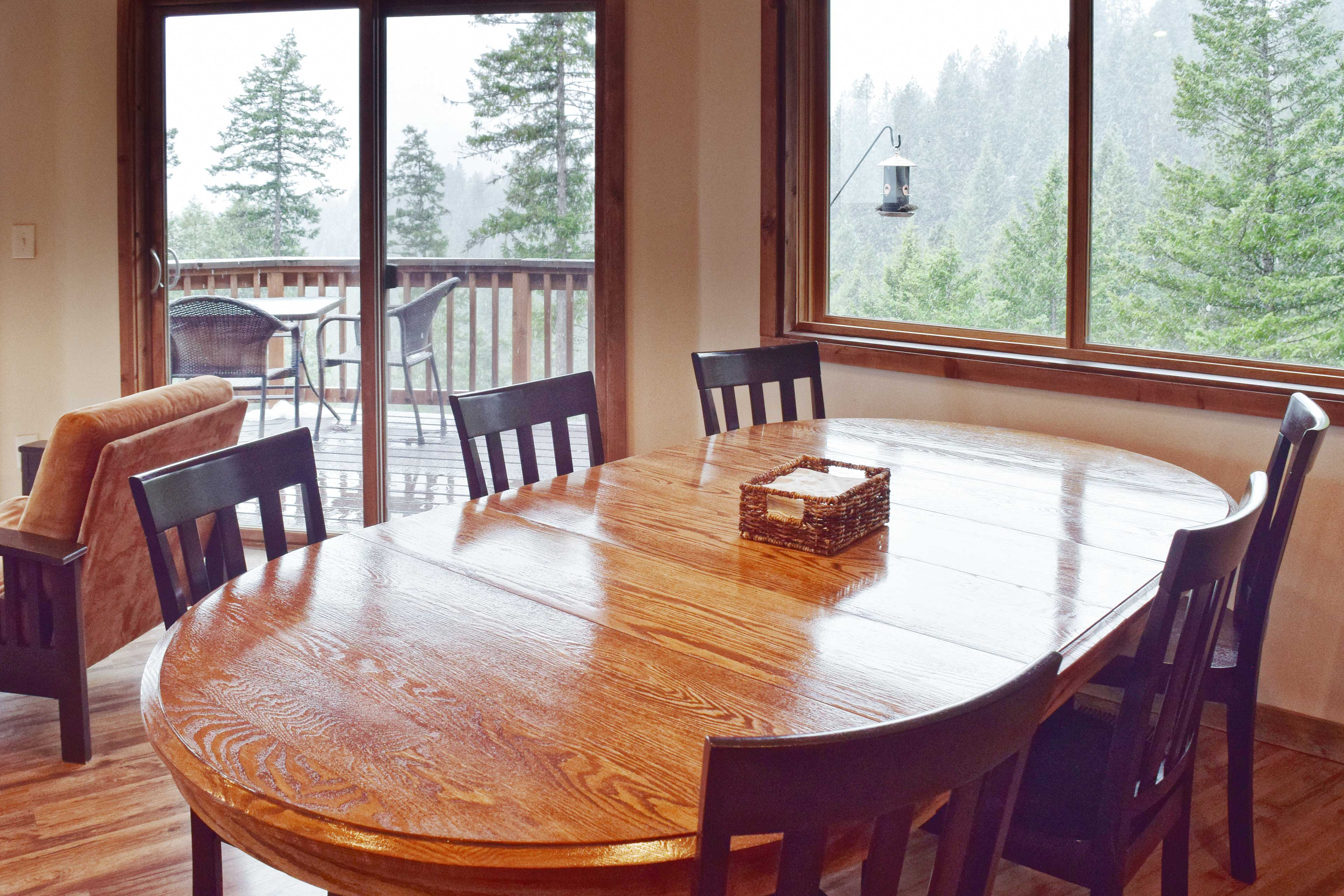 Savor meals with your loved ones at the dining table.
