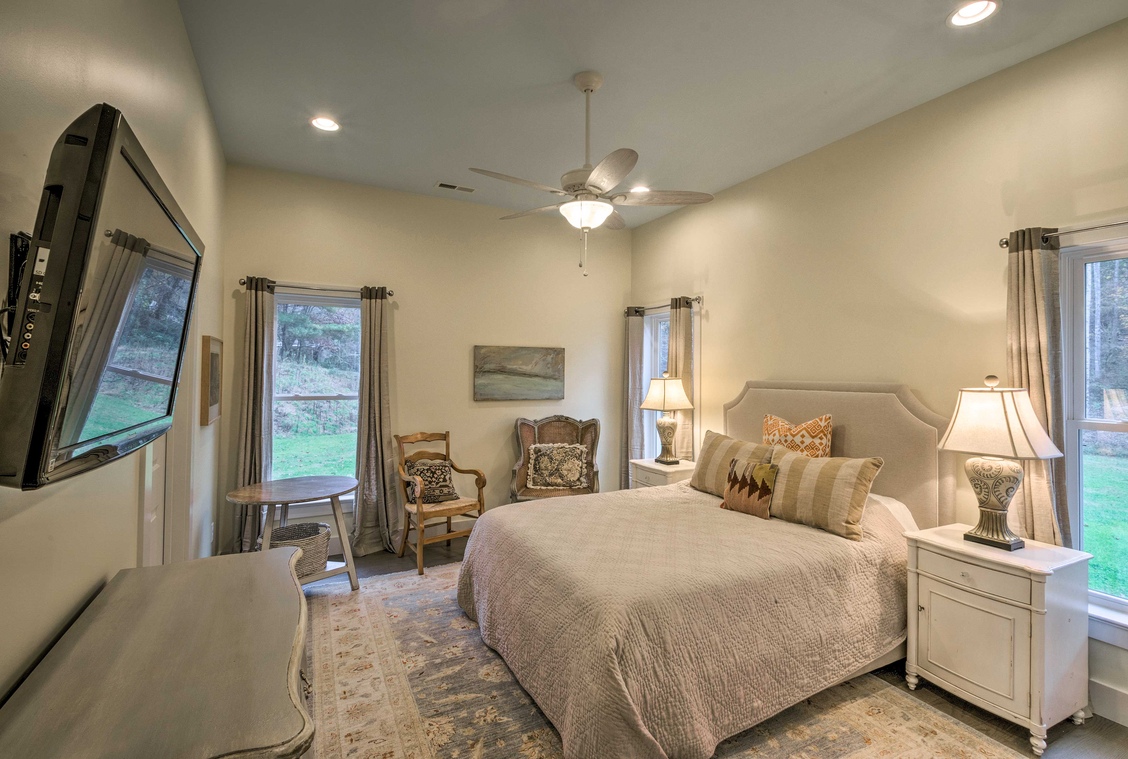 Take solace in one of 2 bedrooms for some privacy.