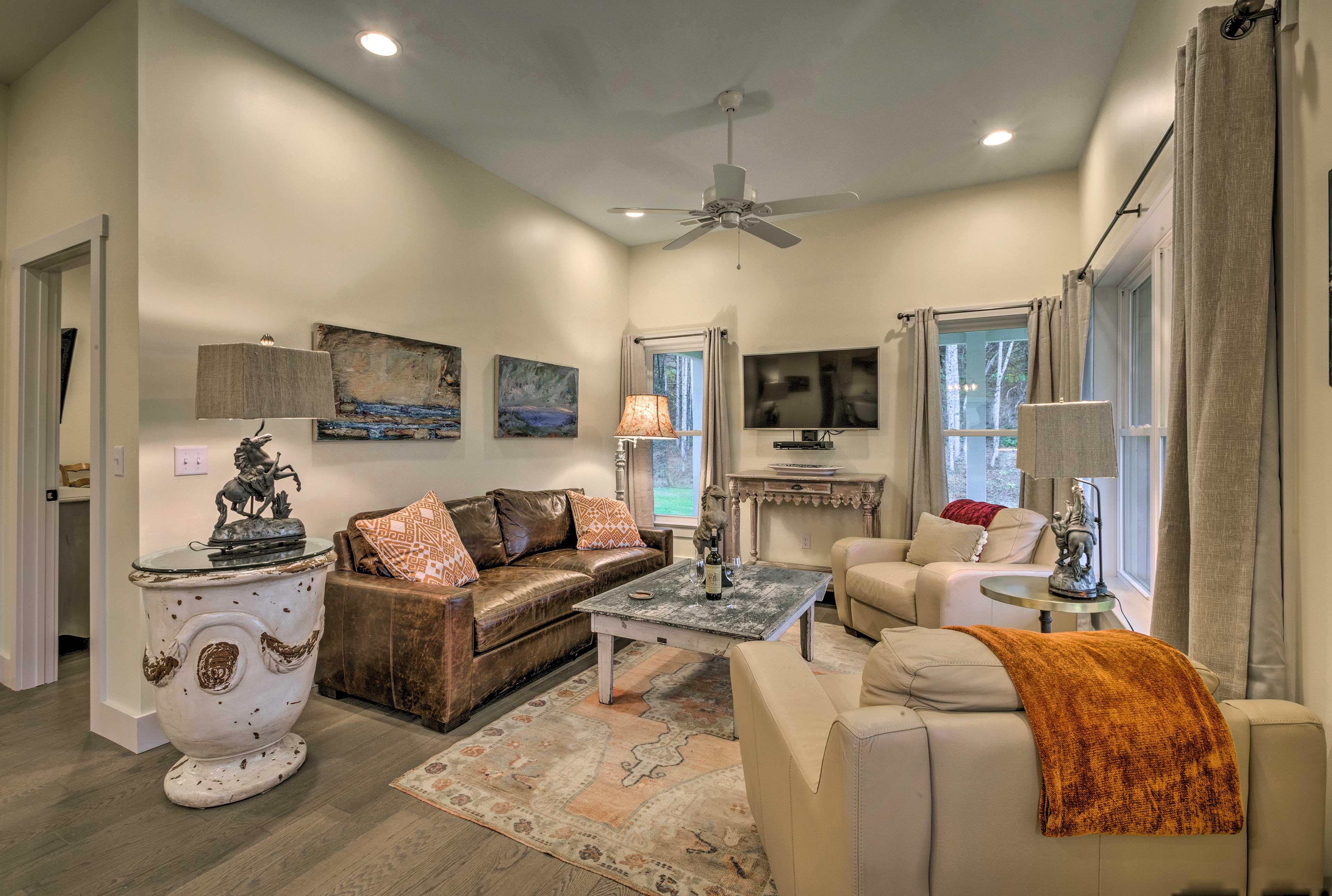 You're sure to adore the contemporary interior!