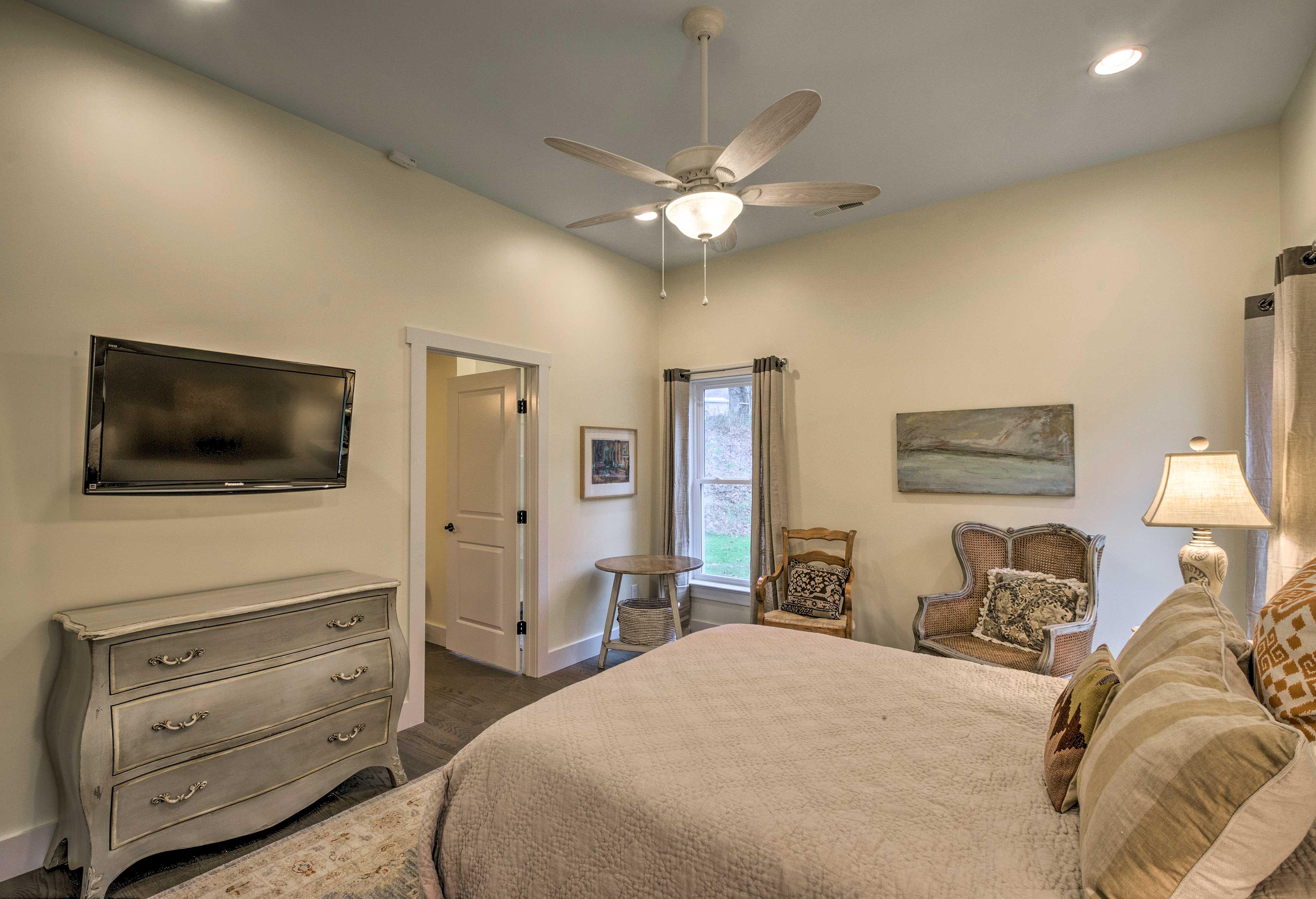 Each bedrooms includes a flat-screen Smart TV.