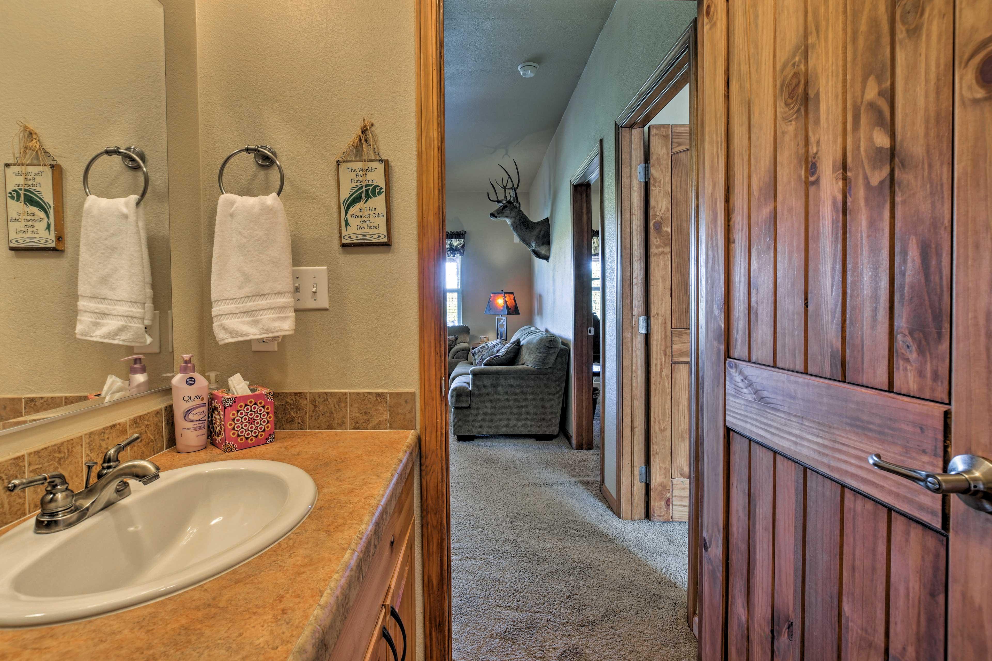 Two bathrooms provide plenty of privacy.