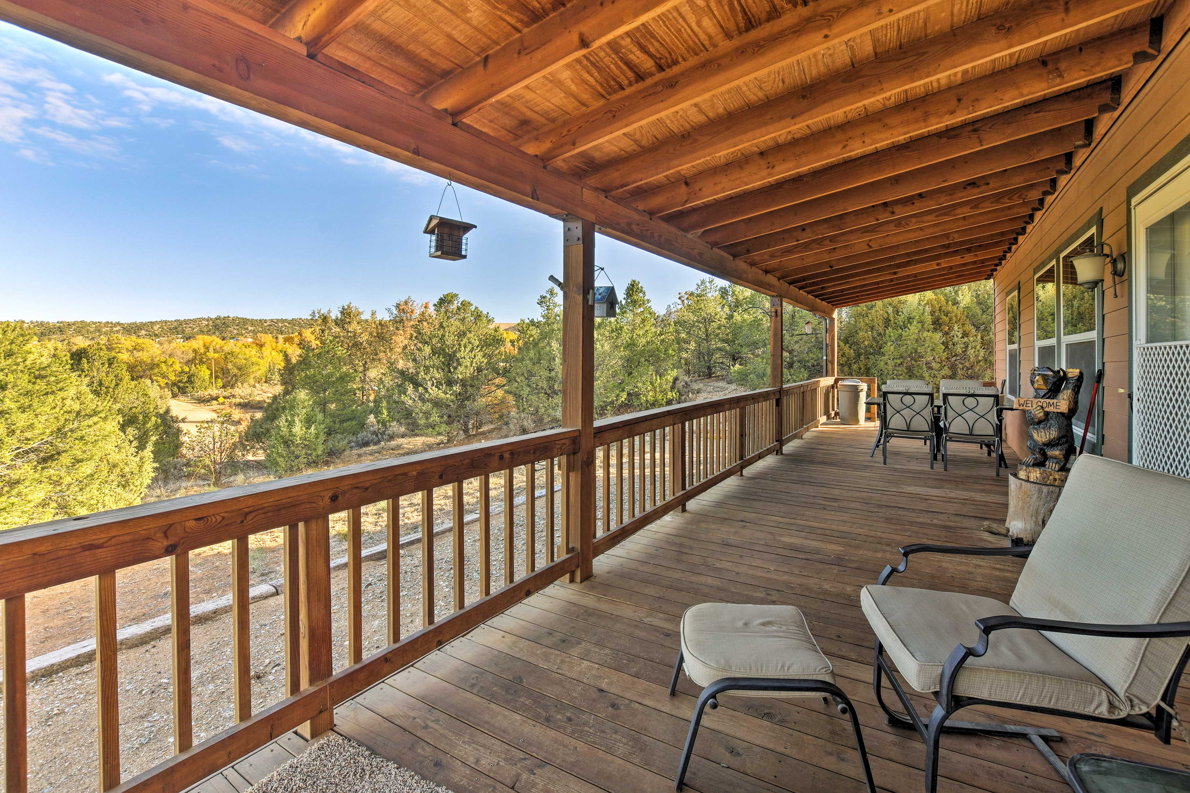 Start and end your day on the covered front deck.