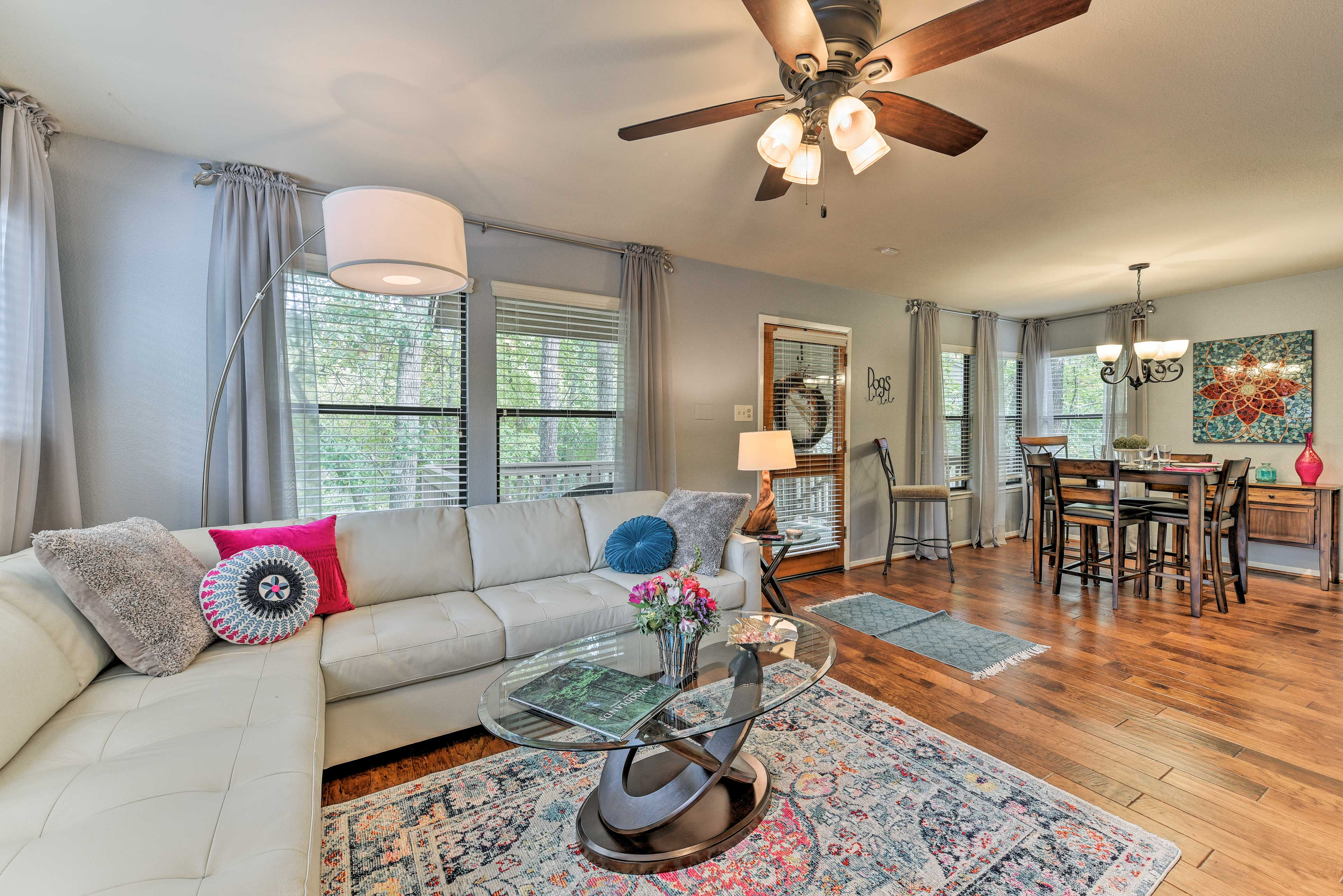 Woodlands Vacation Rental Townhome | 2BR | 2BA | 1,012 Sq Ft | Stairs Required