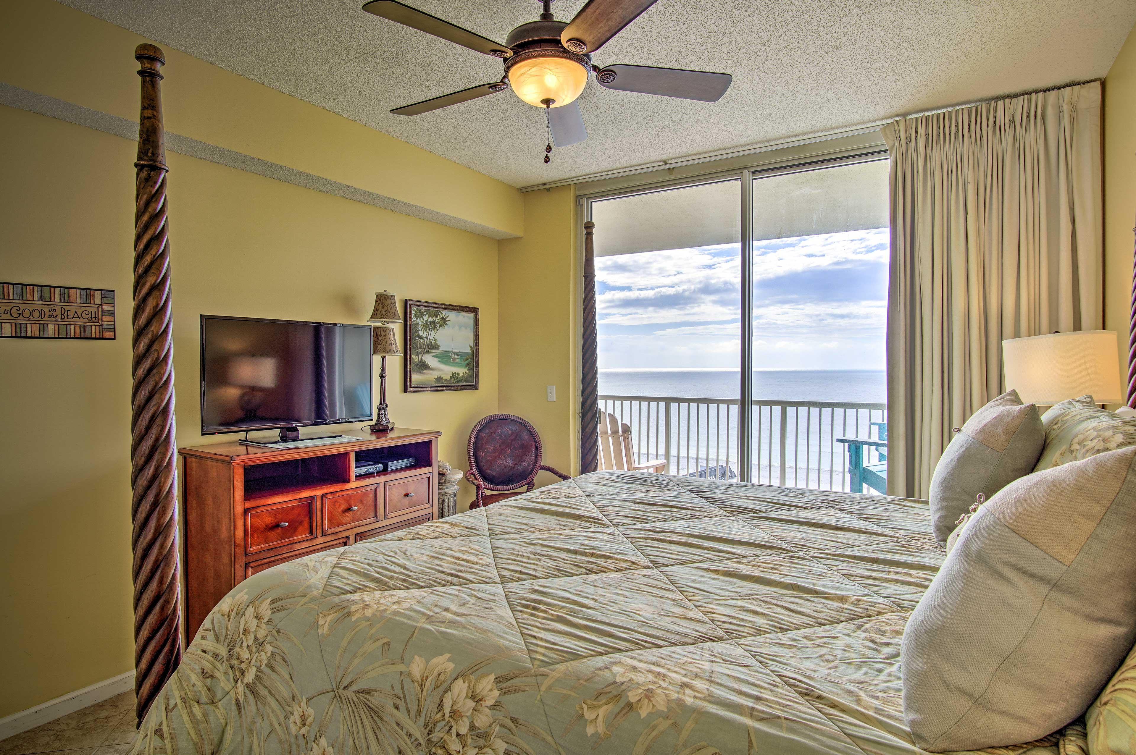 Wake up to shining coastal vistas beyond the sliding glass door.