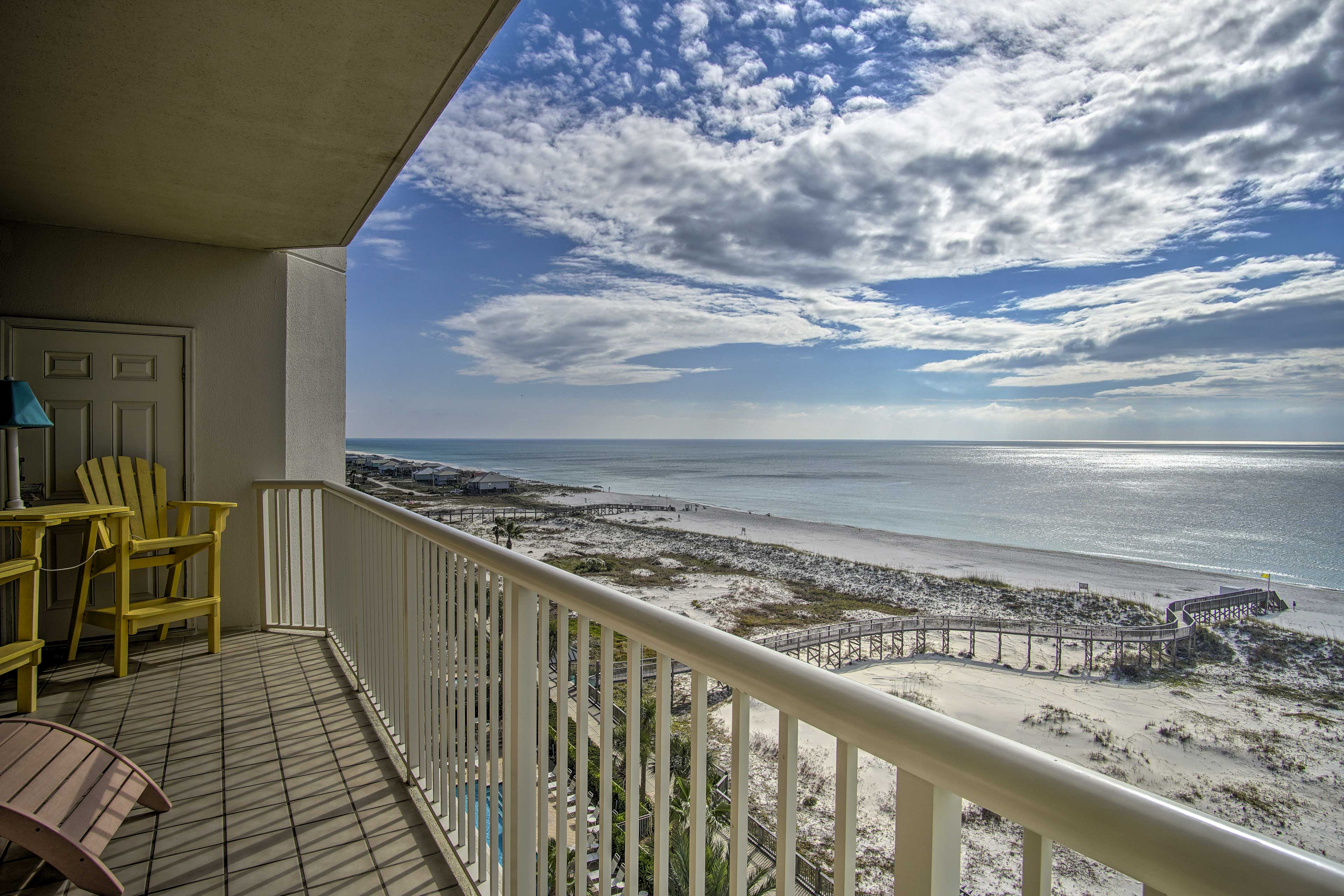 The furnished balcony is sure to be your favorite place to spend time.