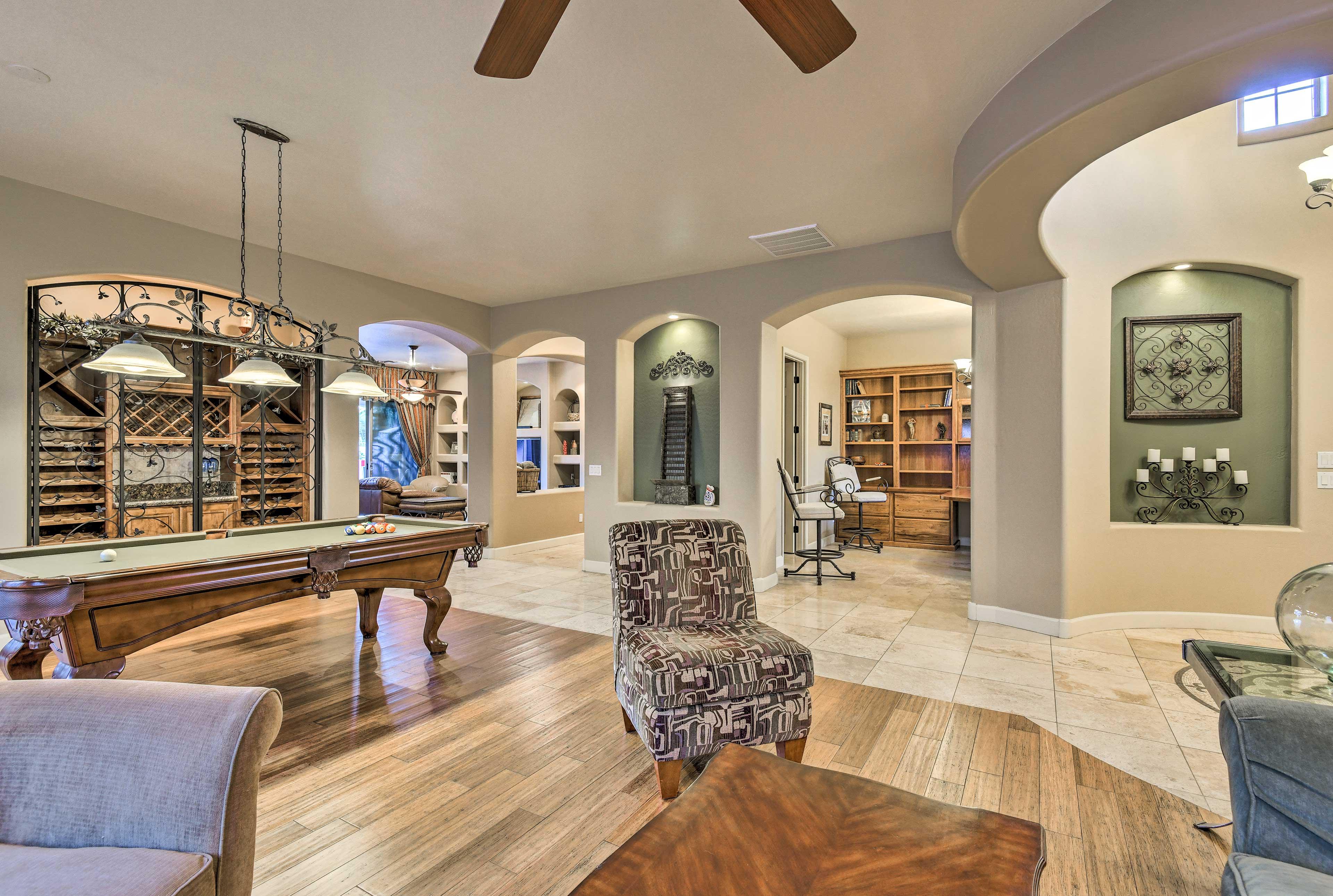 Family Room   Wine Cabinet