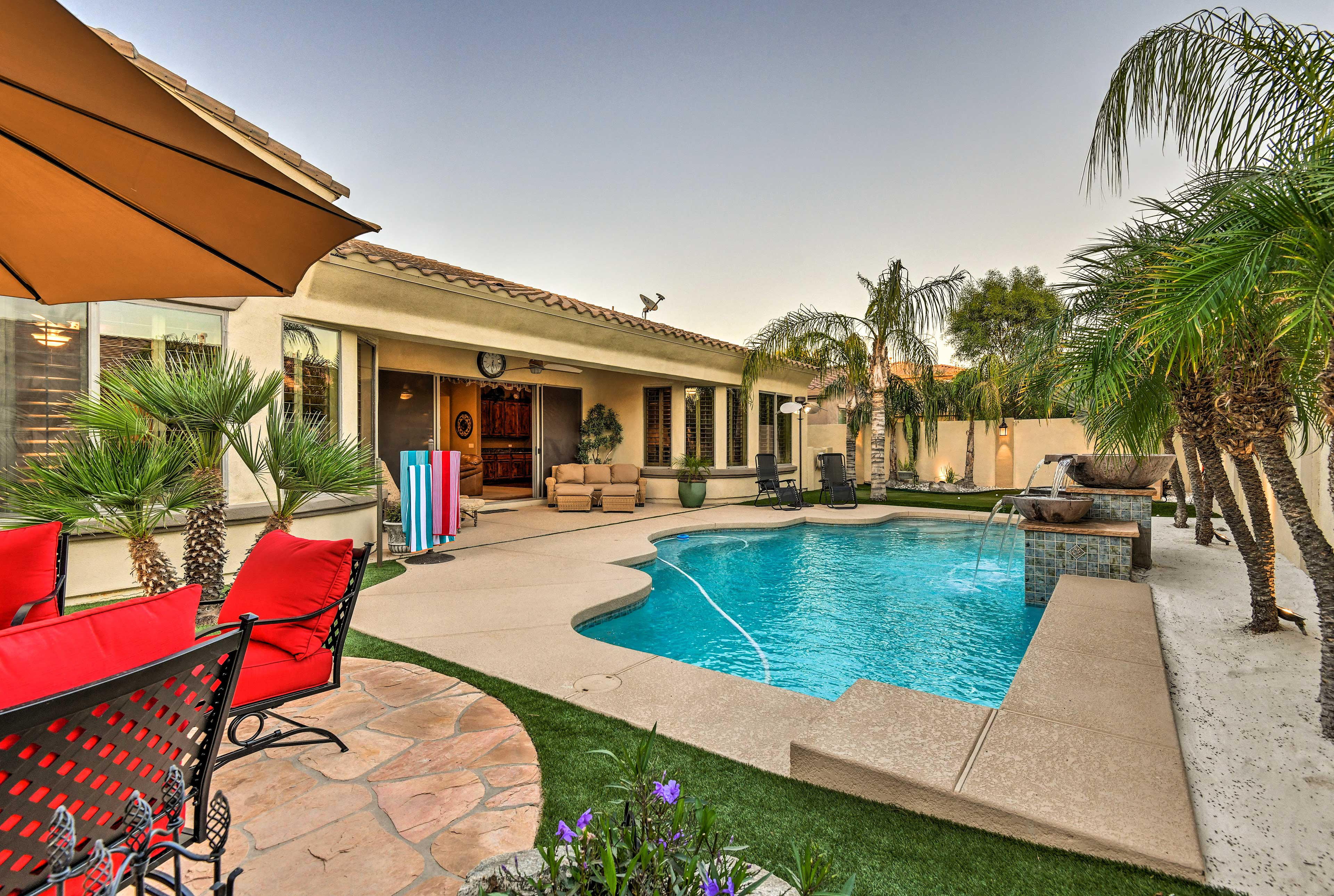 Private Backyard   Pool (Heated w/ Additional Fee)