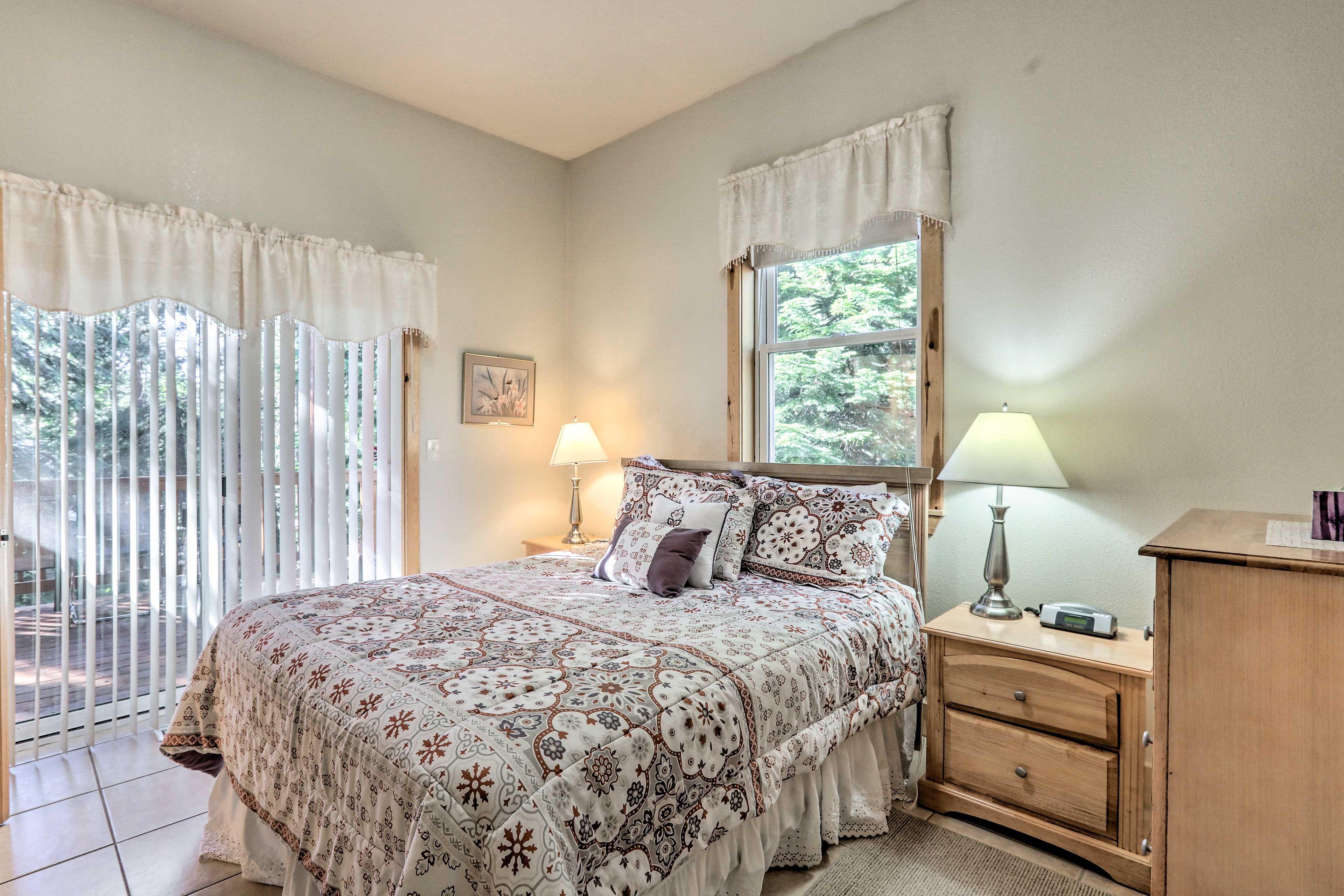 The third bedroom has a queen bed which sleeps 2!